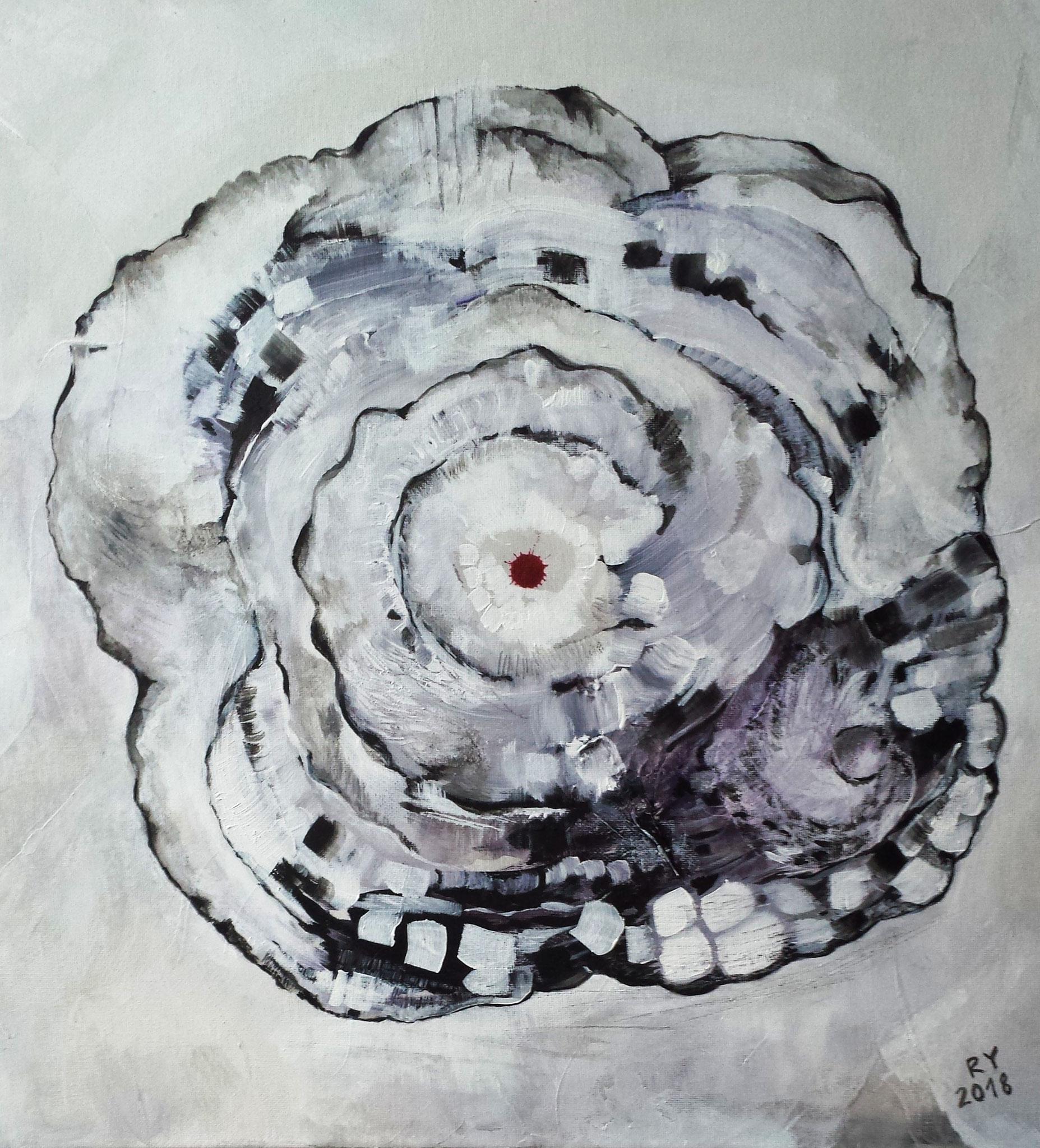 """""""Stone Rose"""" 50 x 50, Acryl auf Leinwand"""