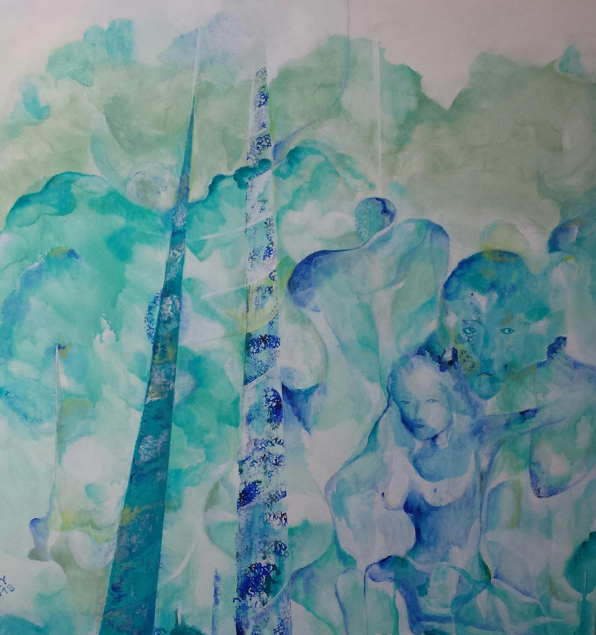"""""""Landscape"""" 80 x80 Acryl auf Leinwand"""