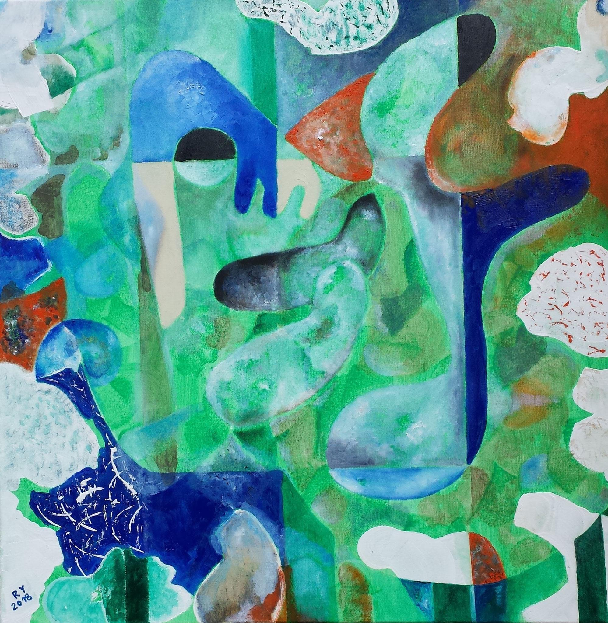 Bille, 80 x80, Öl auf Leinwand