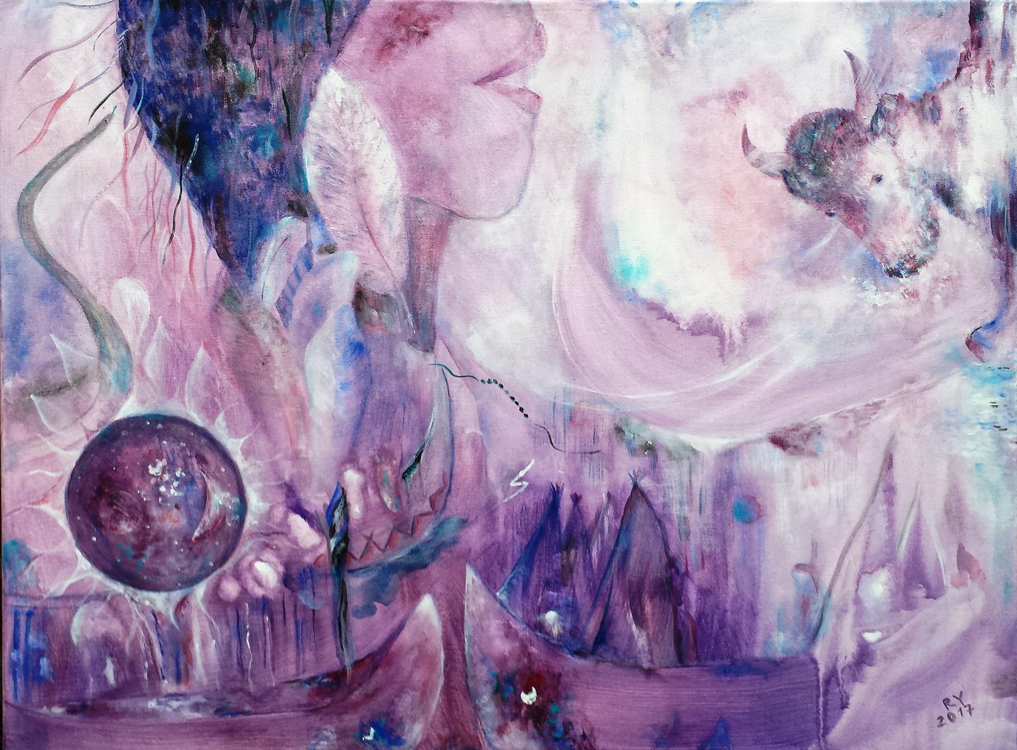 """Indian Dream"" 60 x 80, Acryl auf Leinwand"