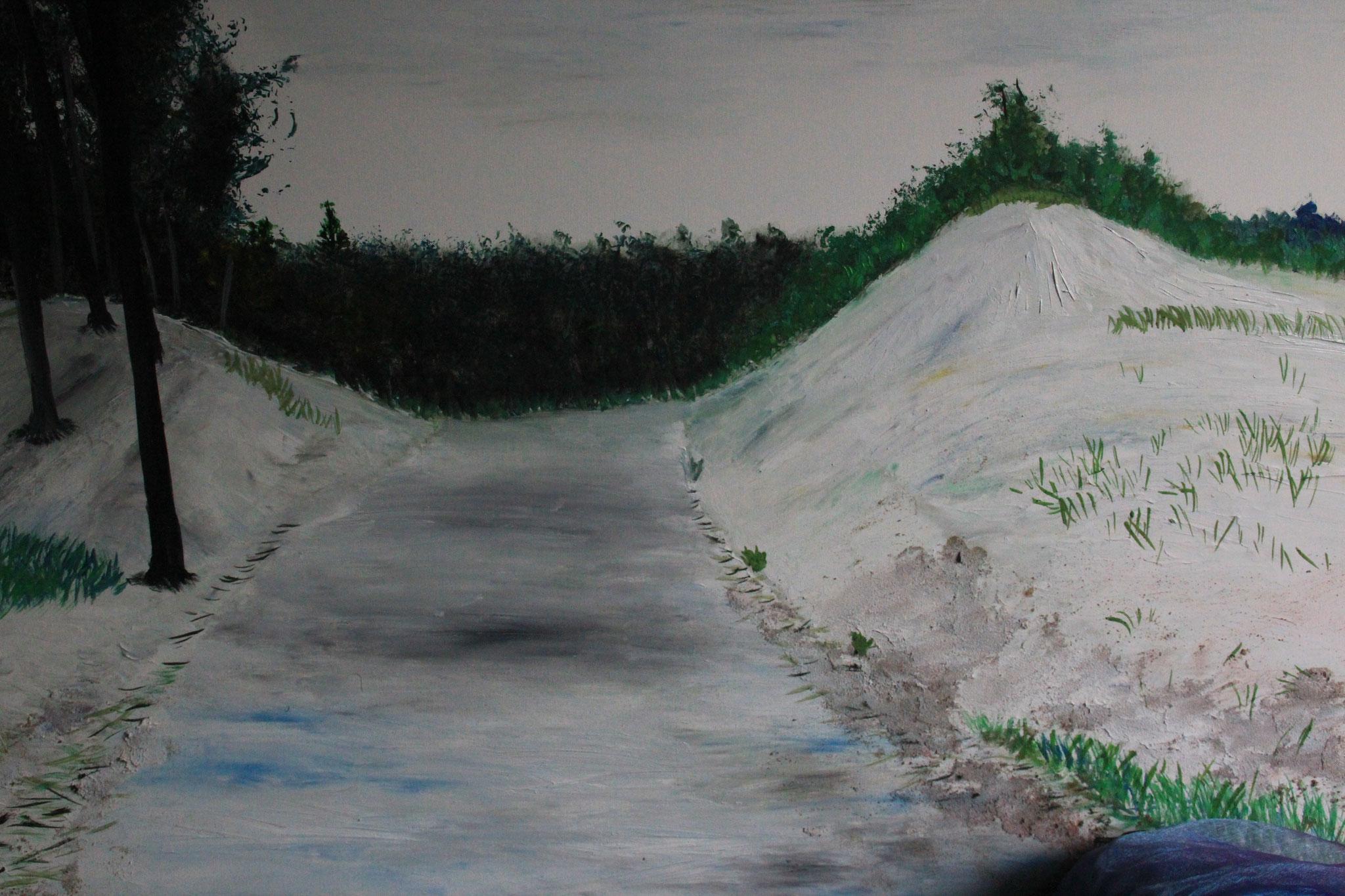Duinlandschap bij Bergen 2, olieverf, 2019