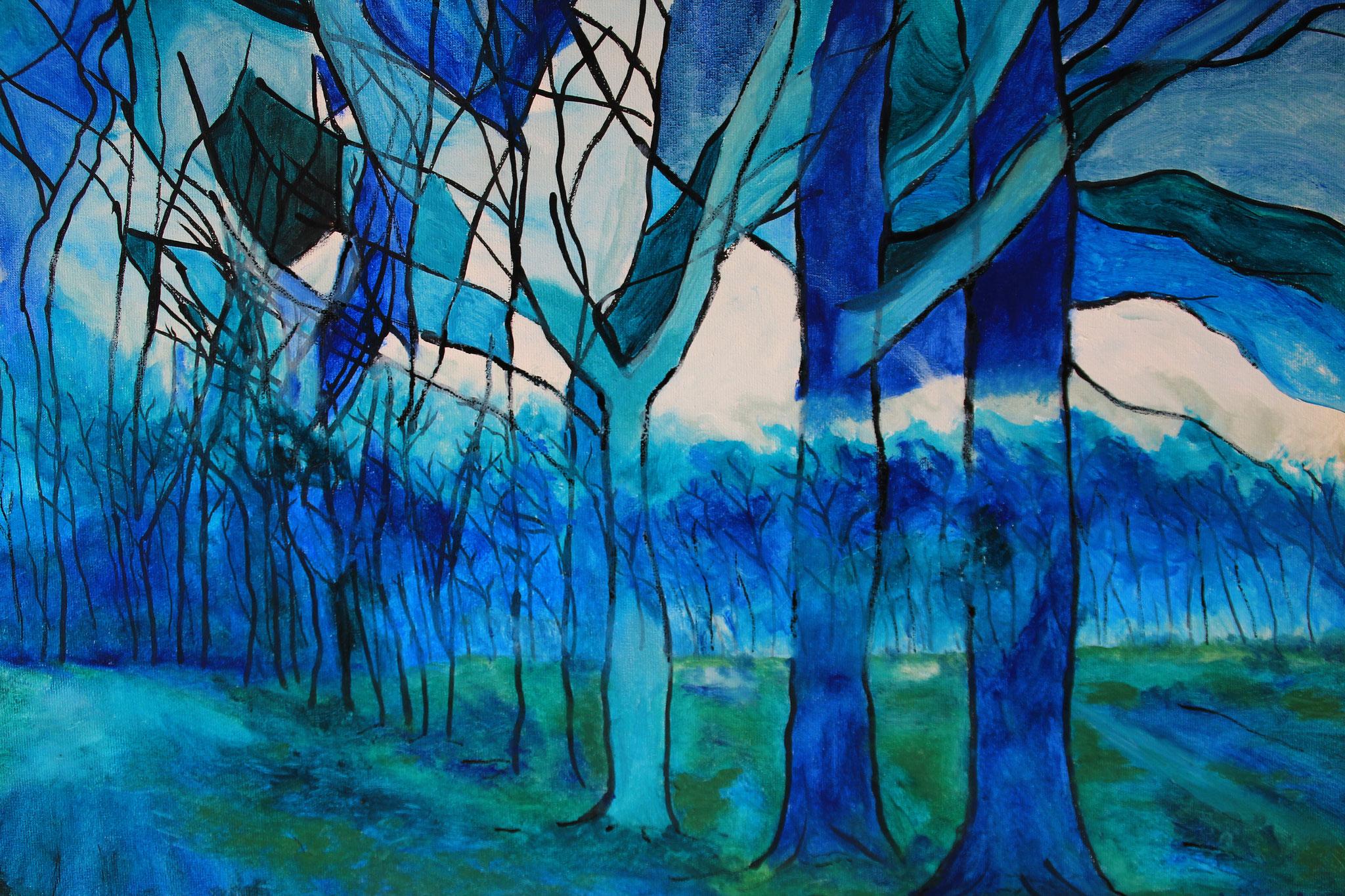 Kijk uit in het blauw, olieverf, 2017 (236)
