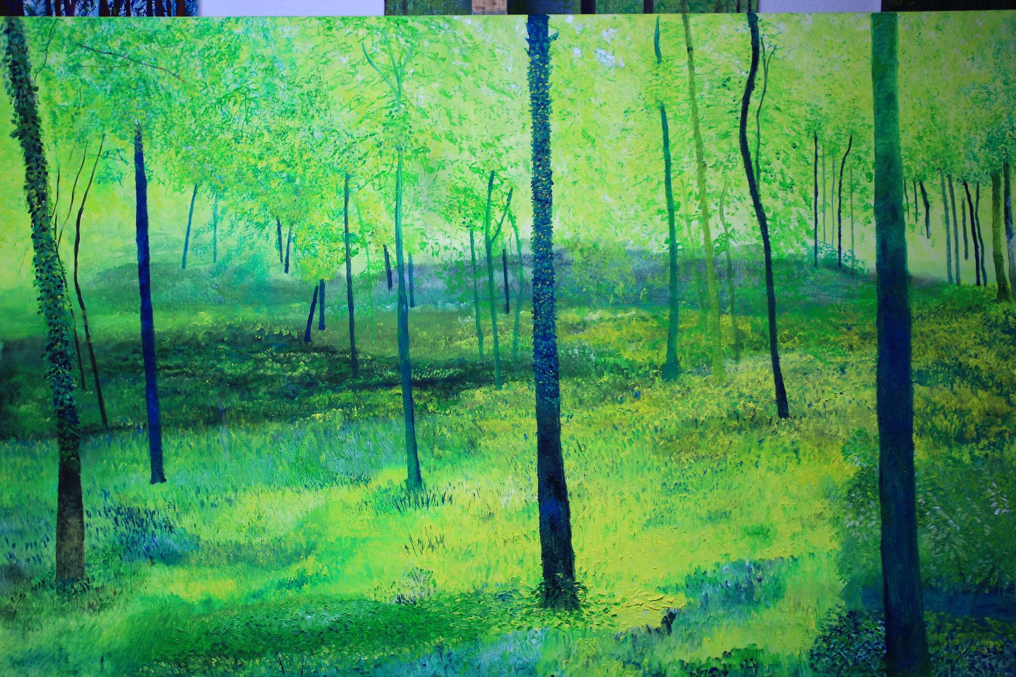 Engelse bos, olieverf, 2019, 150-100 cm