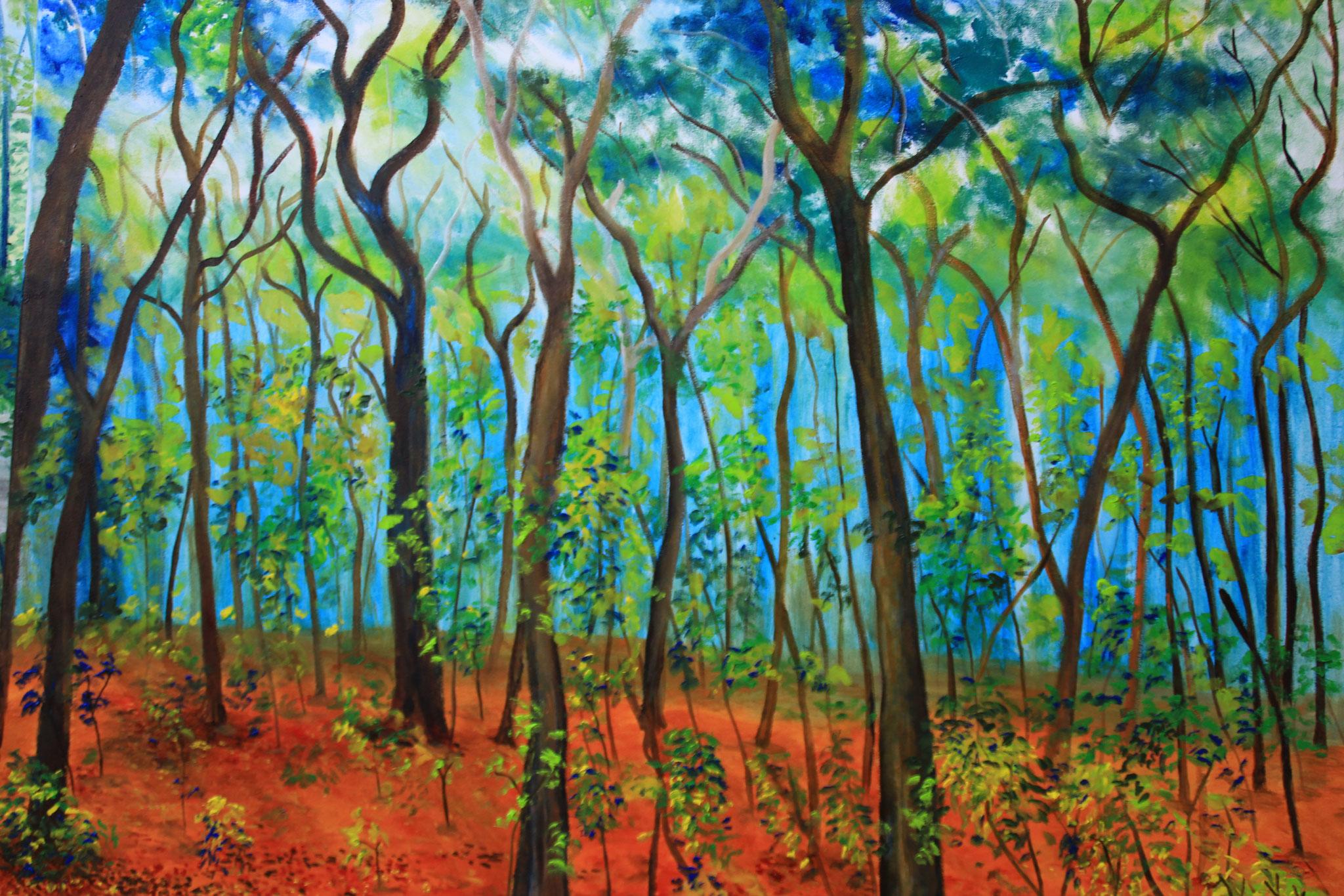 In het bos 1, olieverf, 2016 (211)