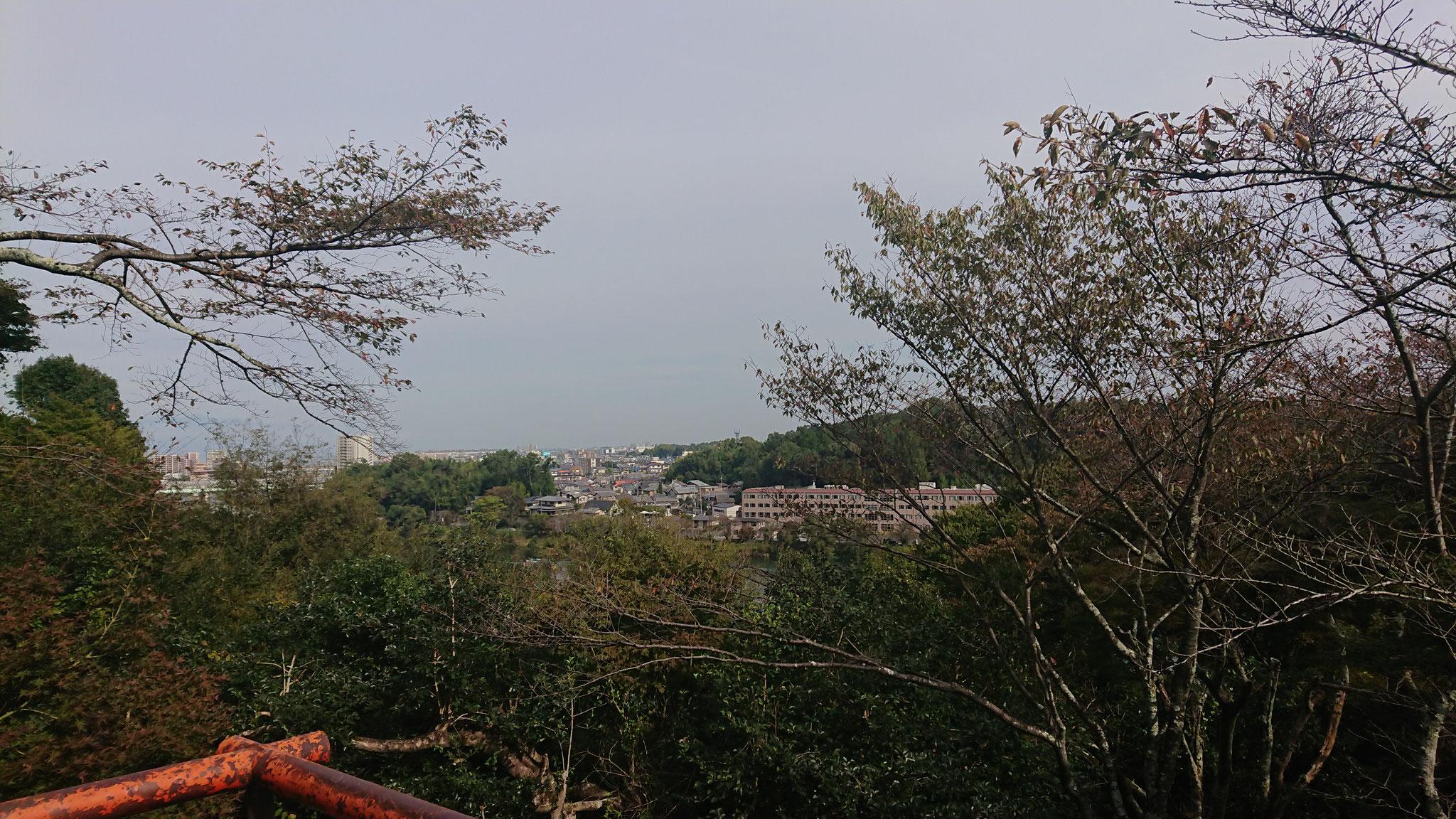 月見亭付近眺望 瀬田川
