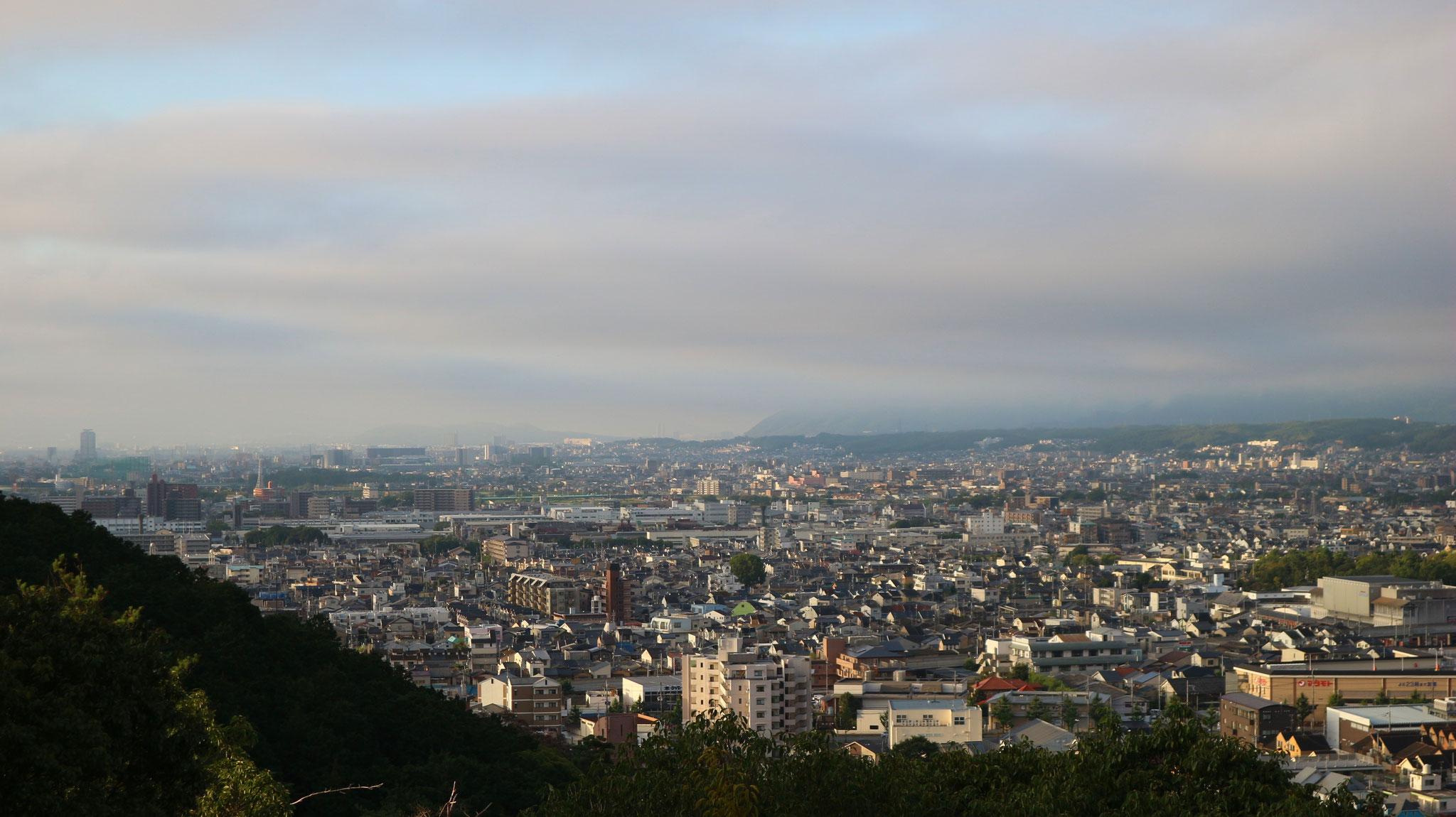 一ノ丘からの南西、天王山