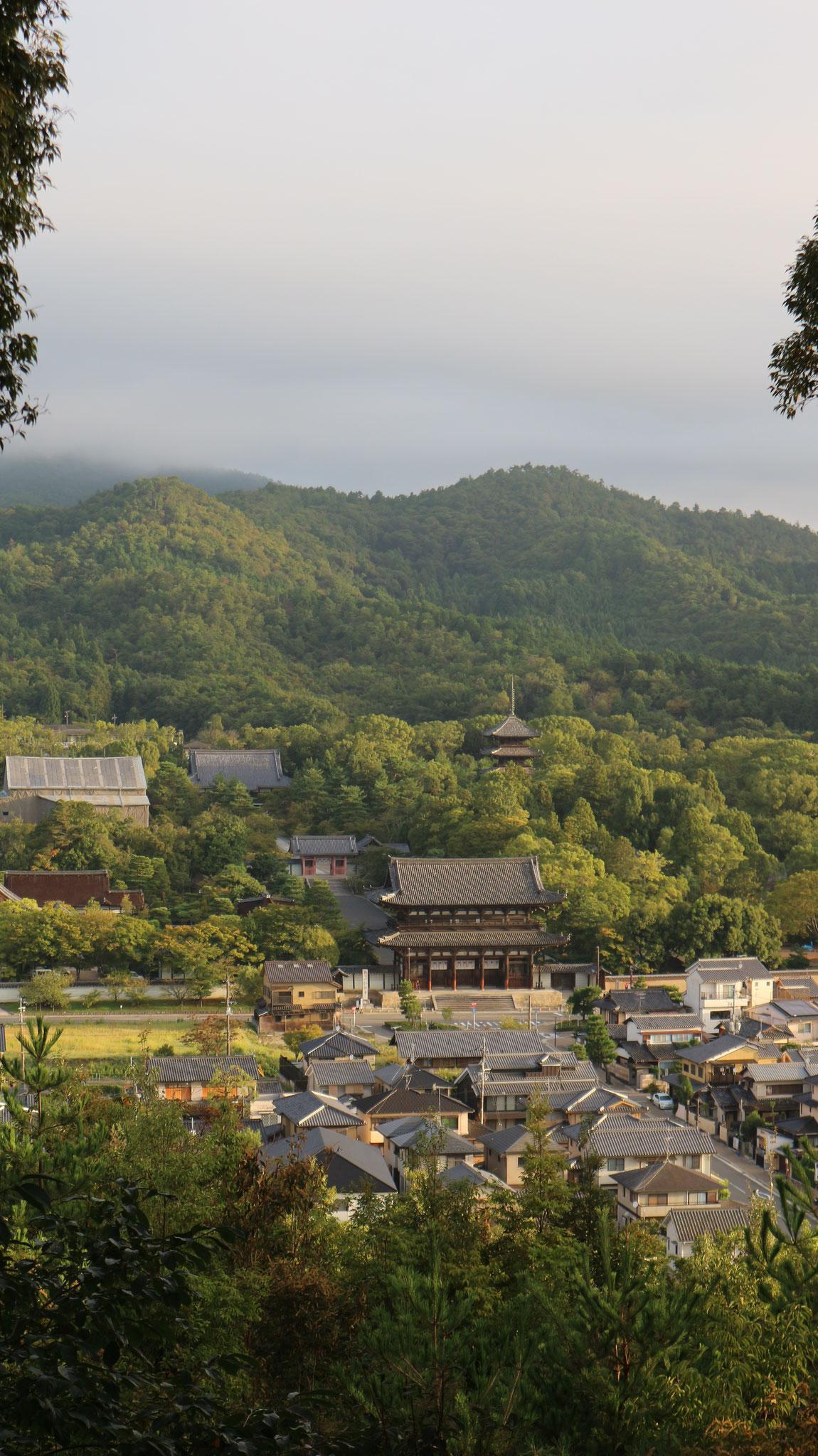 一ノ丘(標高116m)からの北、仁和寺