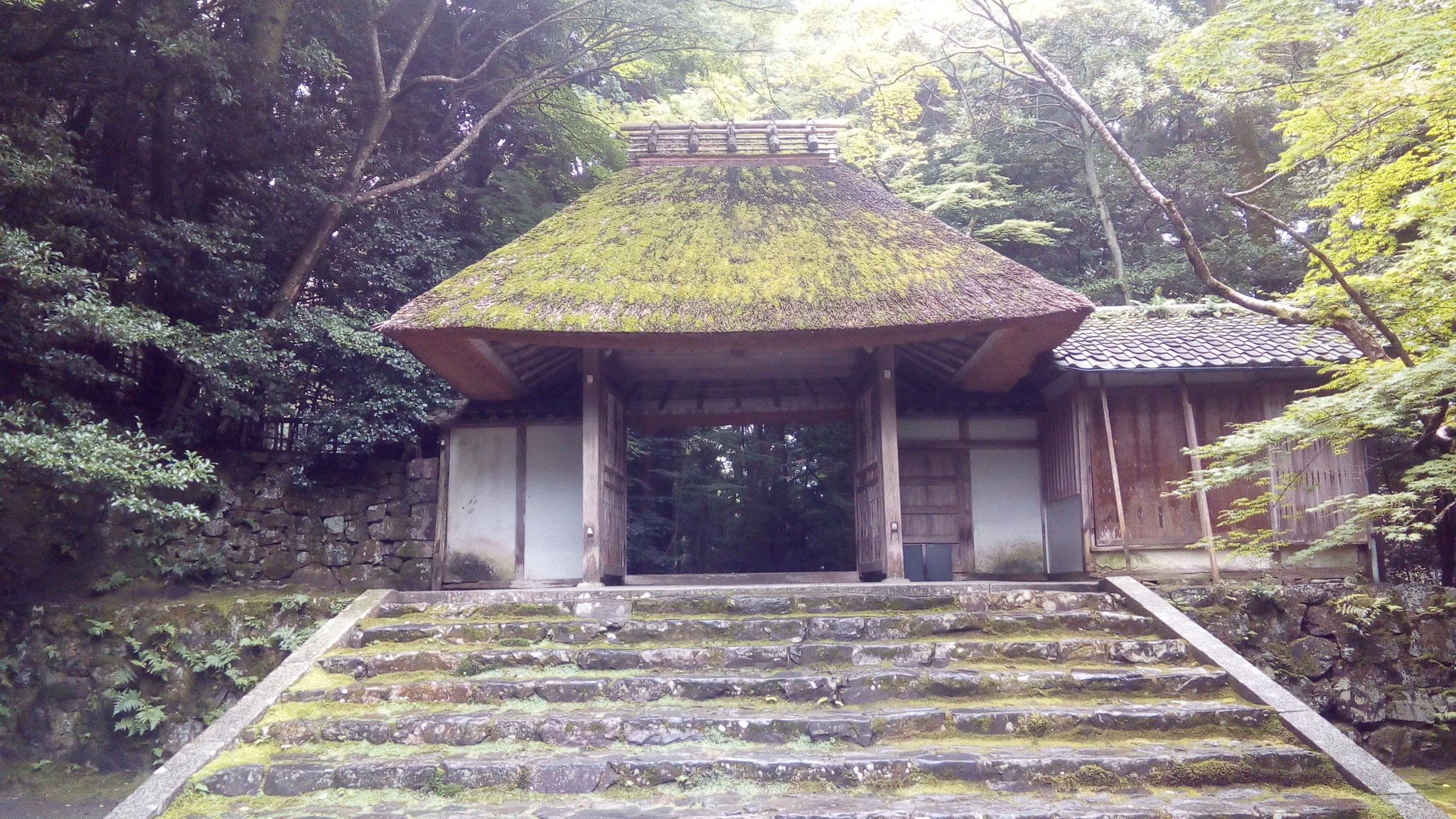 京都唯一の茅葺山門