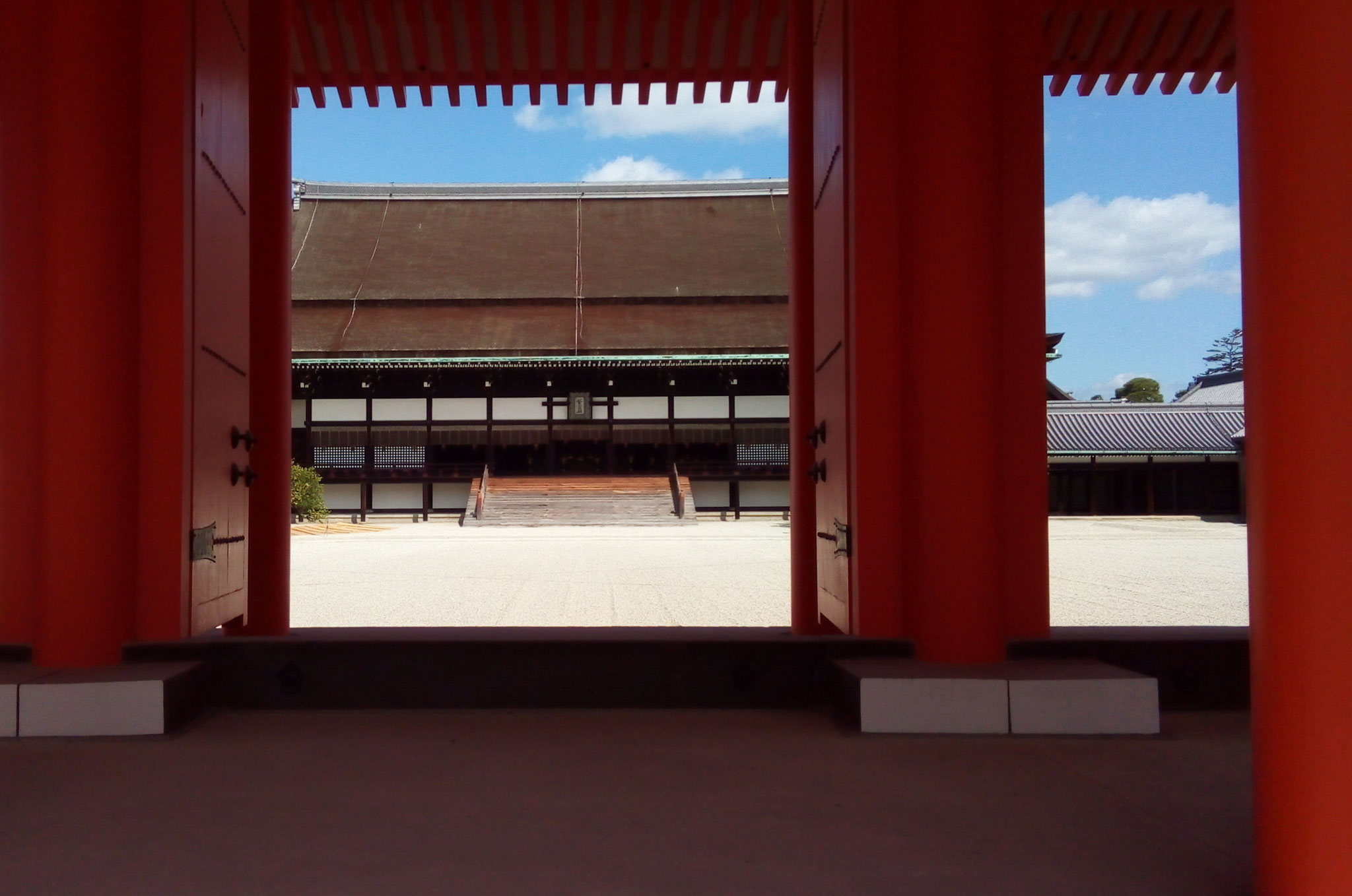 承明門と紫宸殿(ししんでん)
