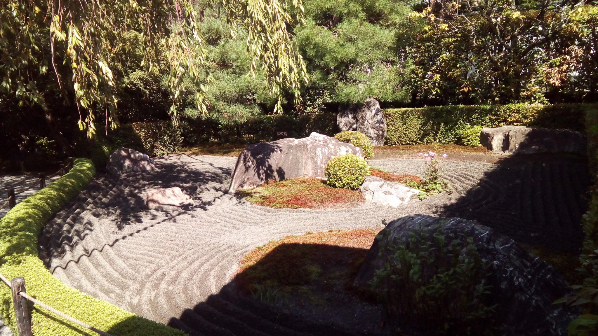 明るい陰の庭(黒い砂)