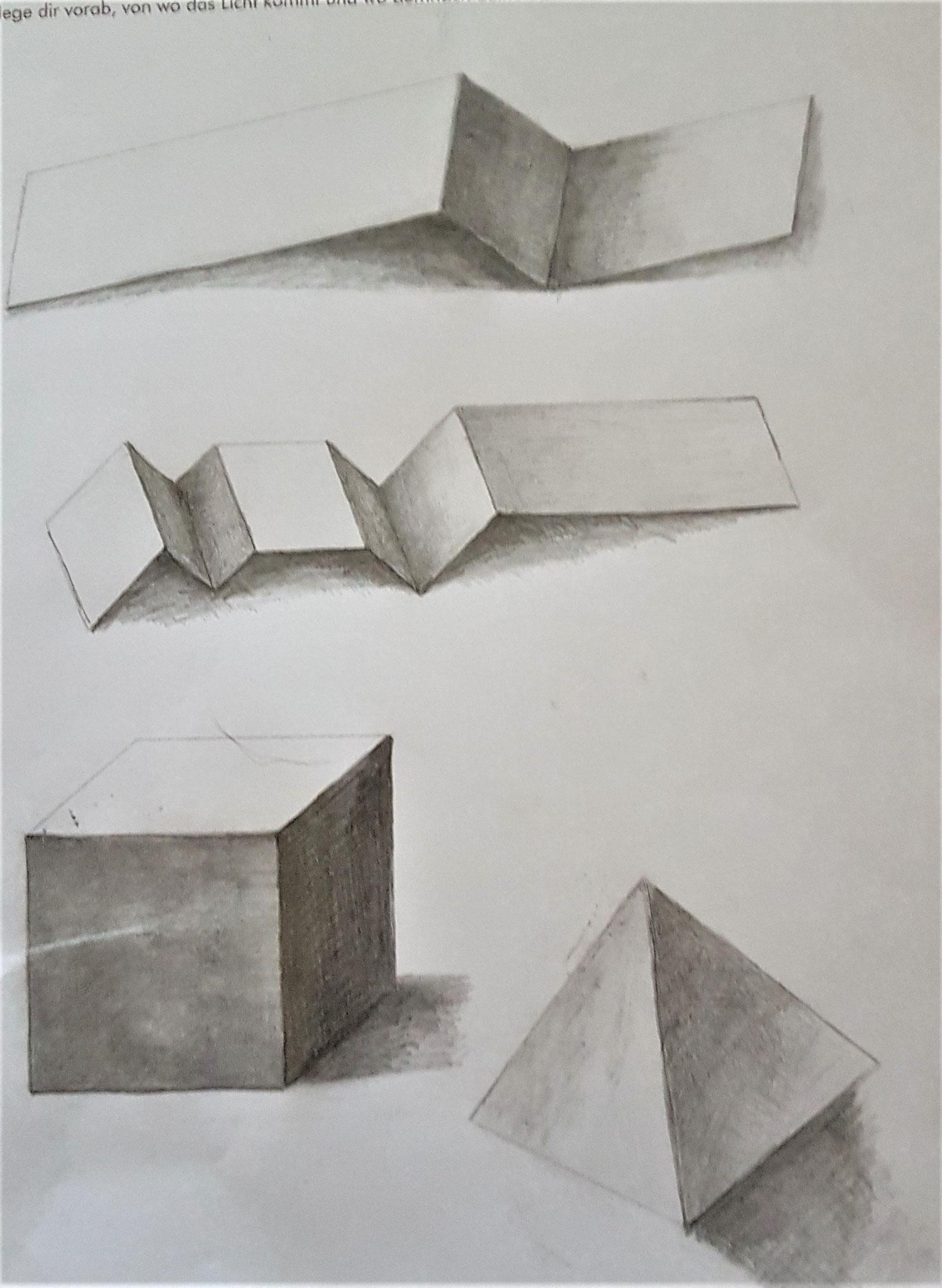 Petra Althof-Heumann / Objekte schattieren