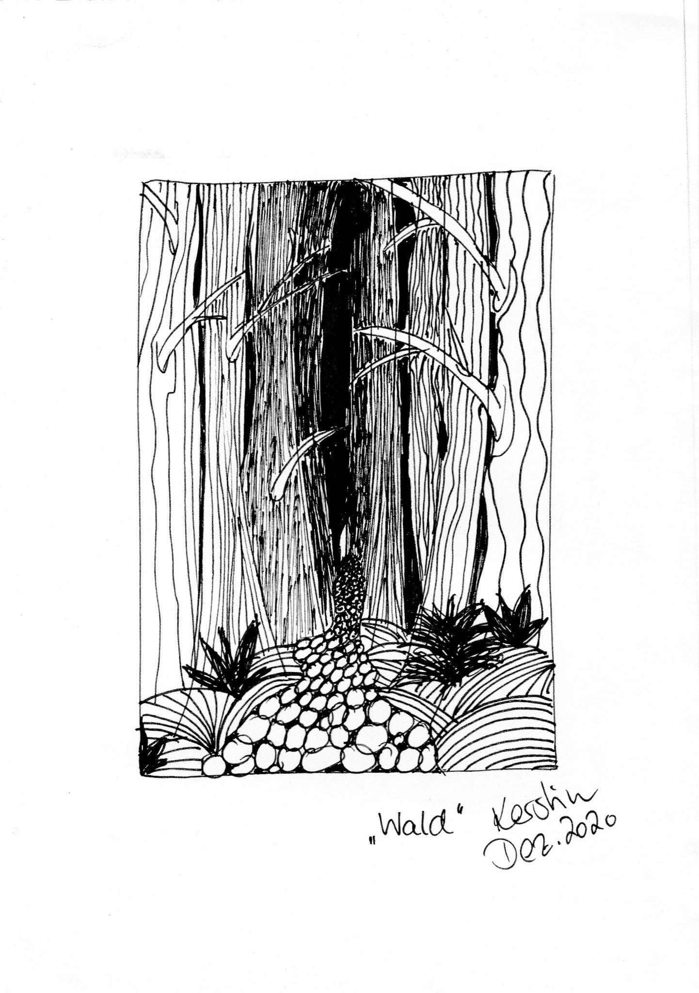 """Kerstin Hoffmann / Strukturzeichnung """"Wald"""""""