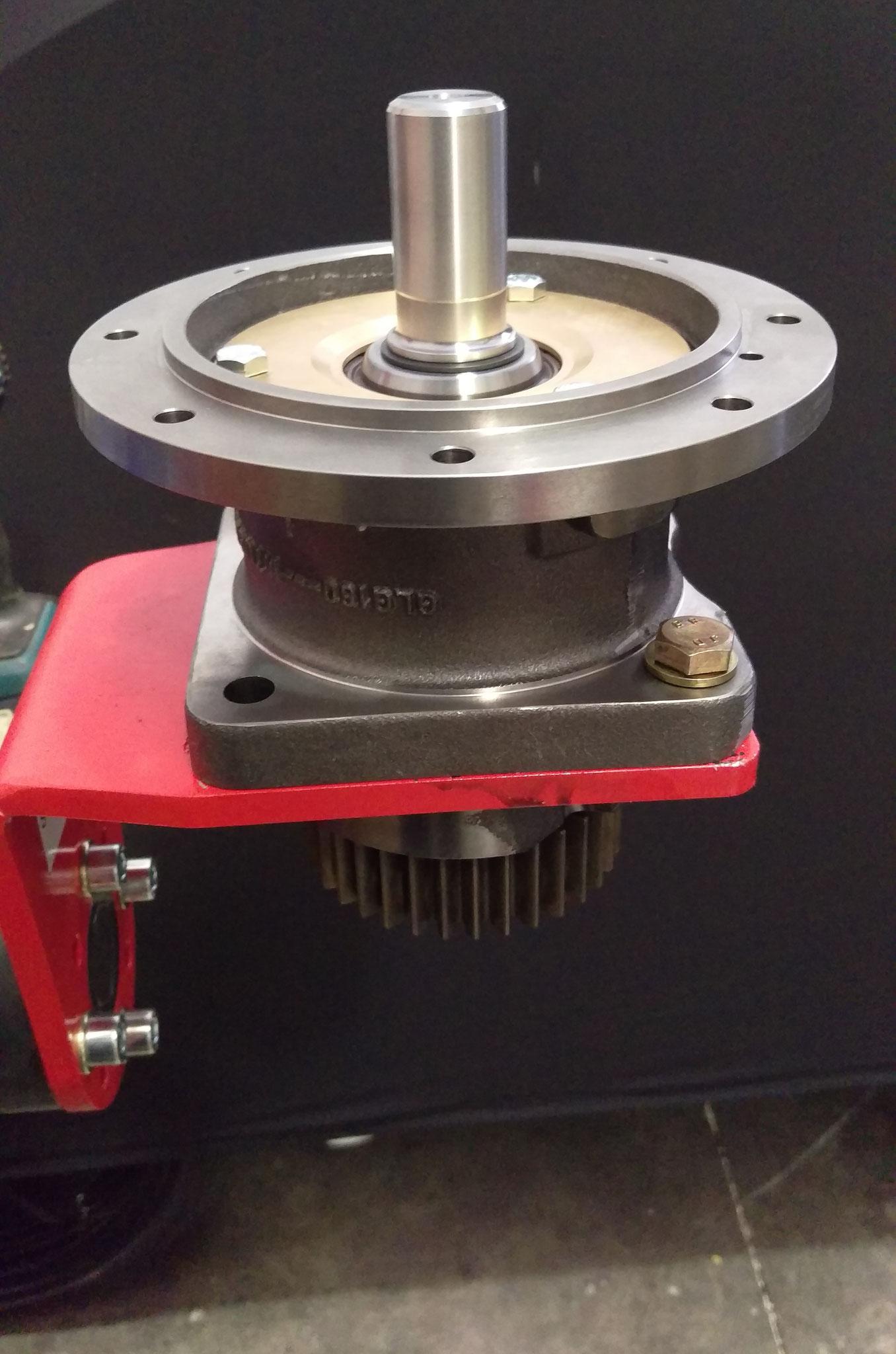 Coolant pump on swivel stand