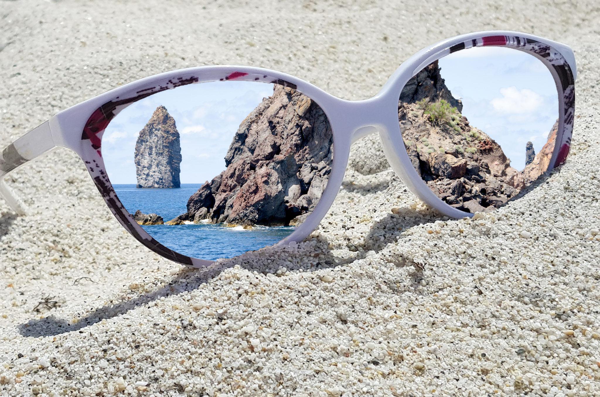 Leinwandbild Brille Fels