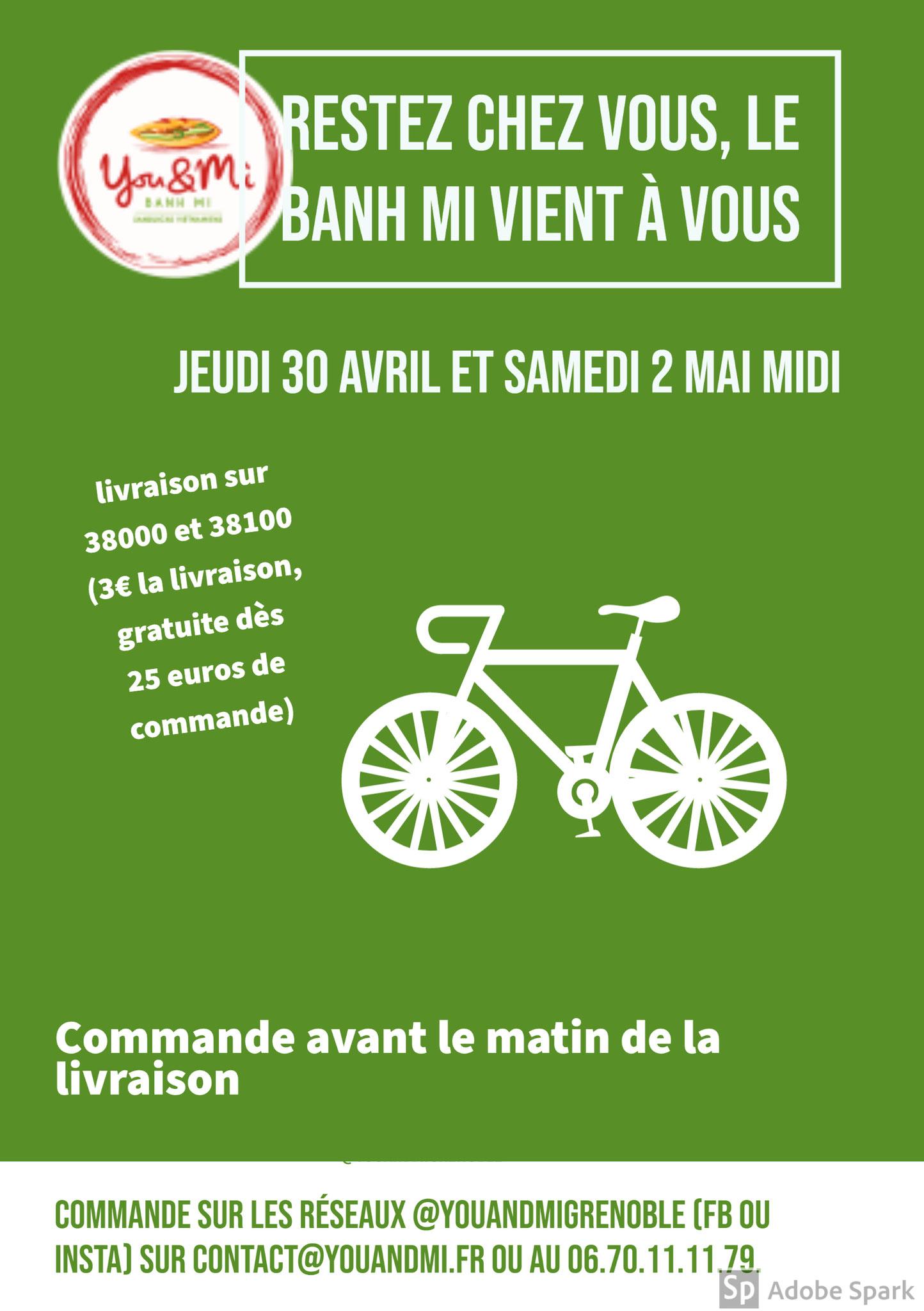 Livraison sur Grenoble à vélo