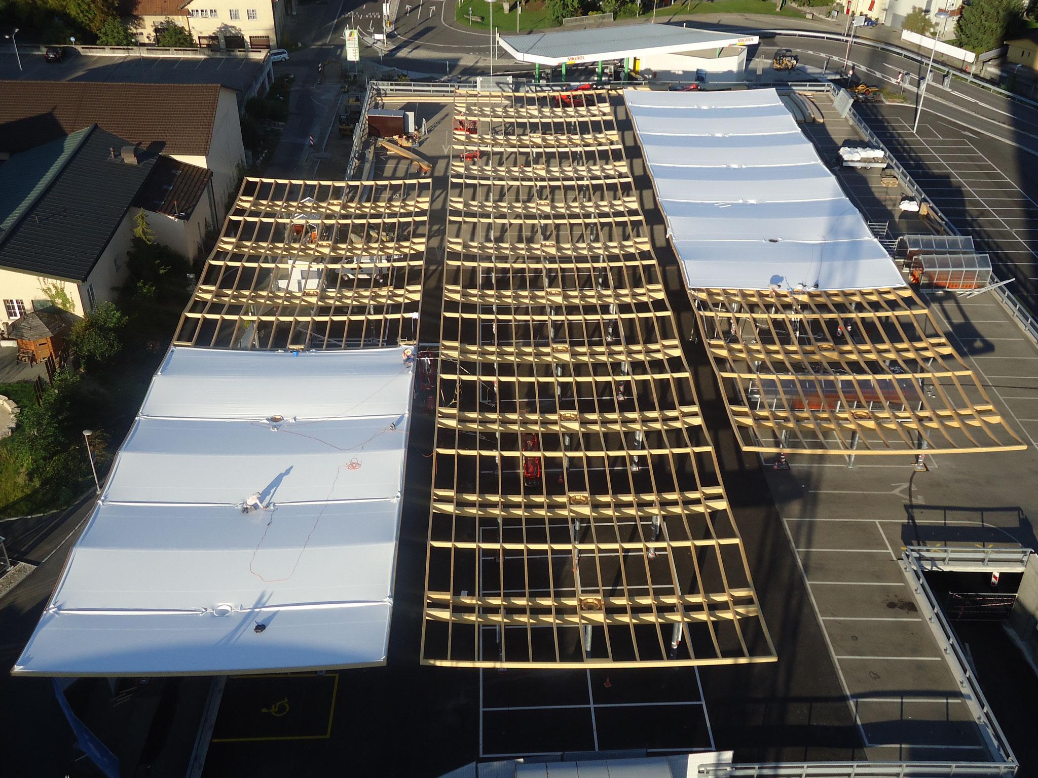 Parkplatzüberdachung Langendorf