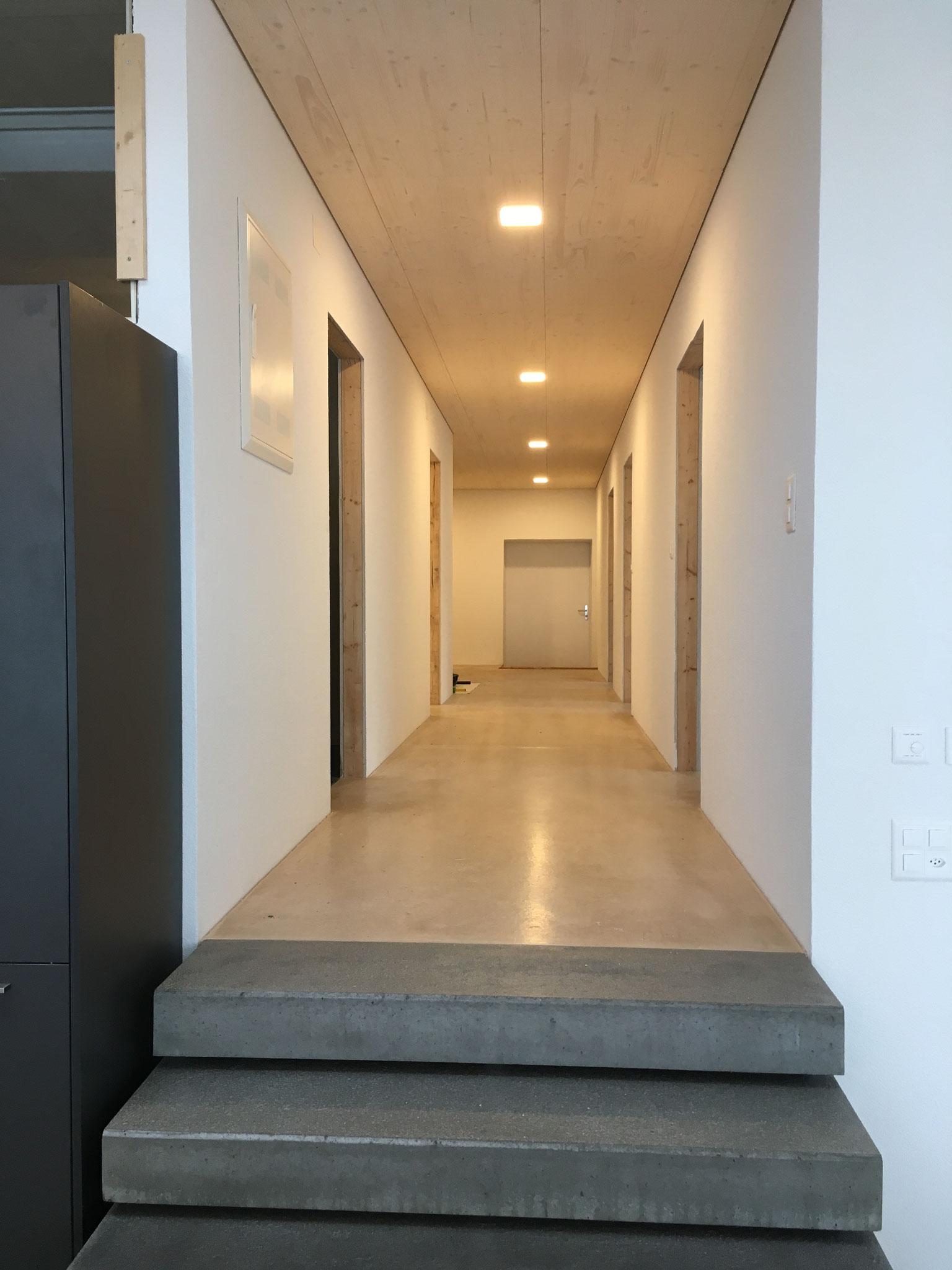 Umbau Fabrik in MFH: früherer Labor- und Bürotrakt