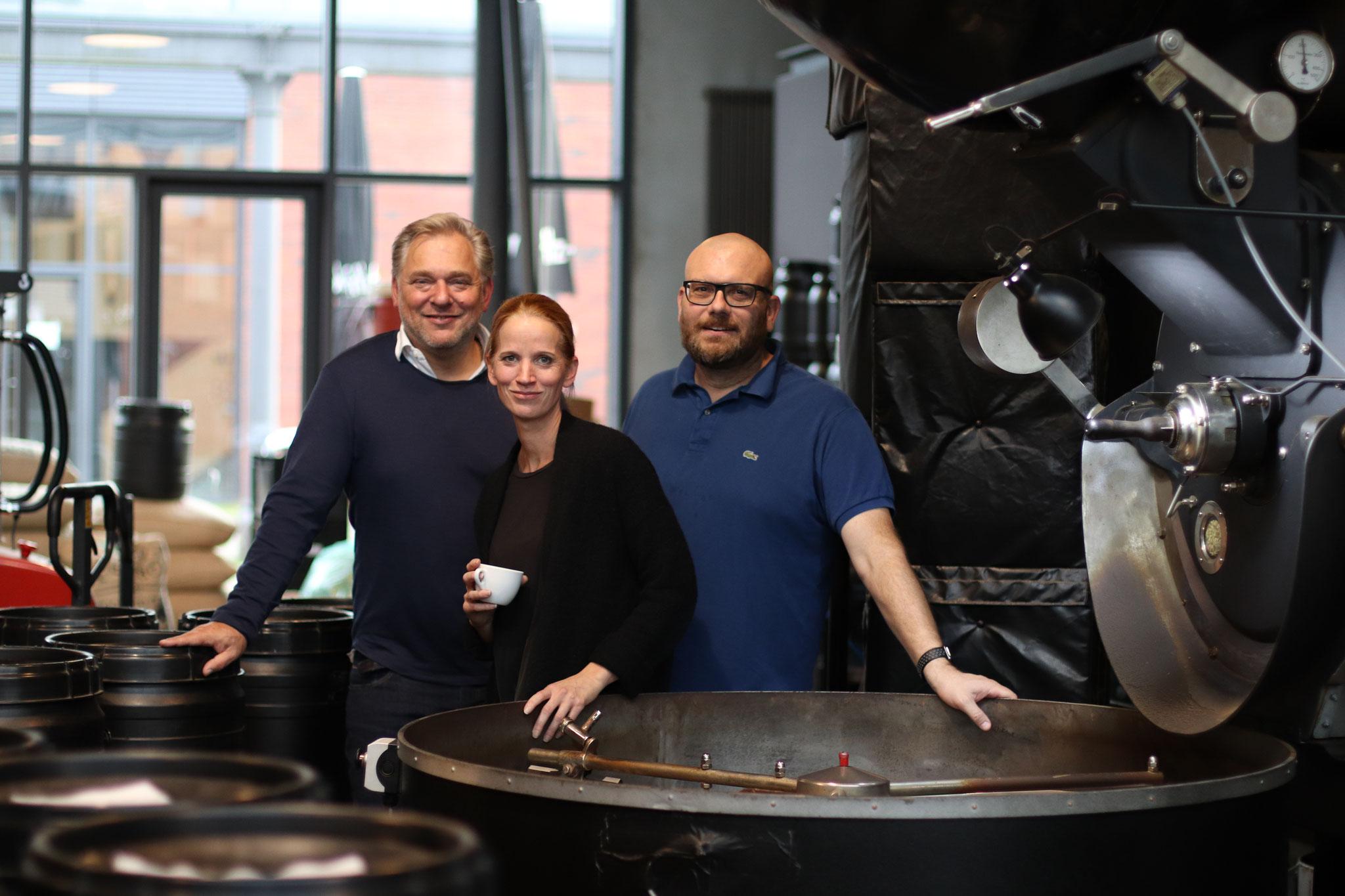 Foodtalker - Boris Rogosch,  Annika Taschinski und Thomas Kliefoth - beide Gründer und Geschäftsführer elbgold v.l.n.r
