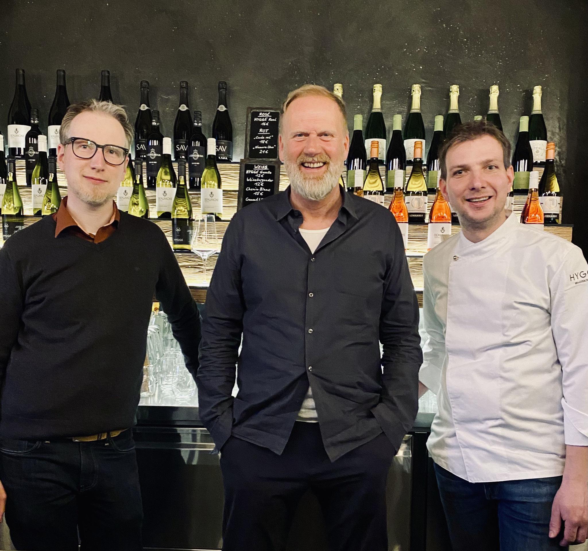 Lennart Wenk (li.), Nils Jacobsen (mi.), Thomas Nerlich (re.)