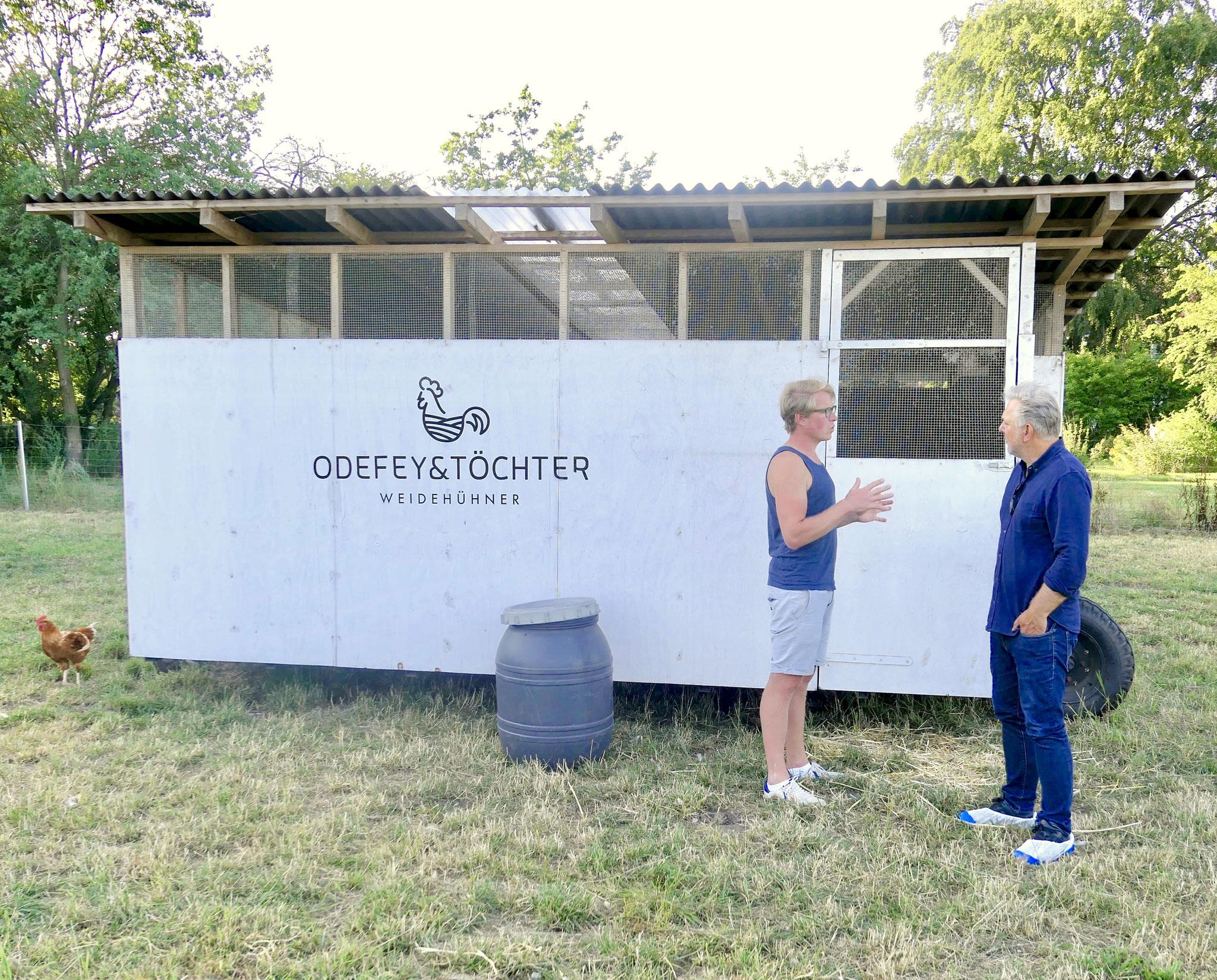 Lars Odefey und Foodtalker Boris Rogosch im Gespräch