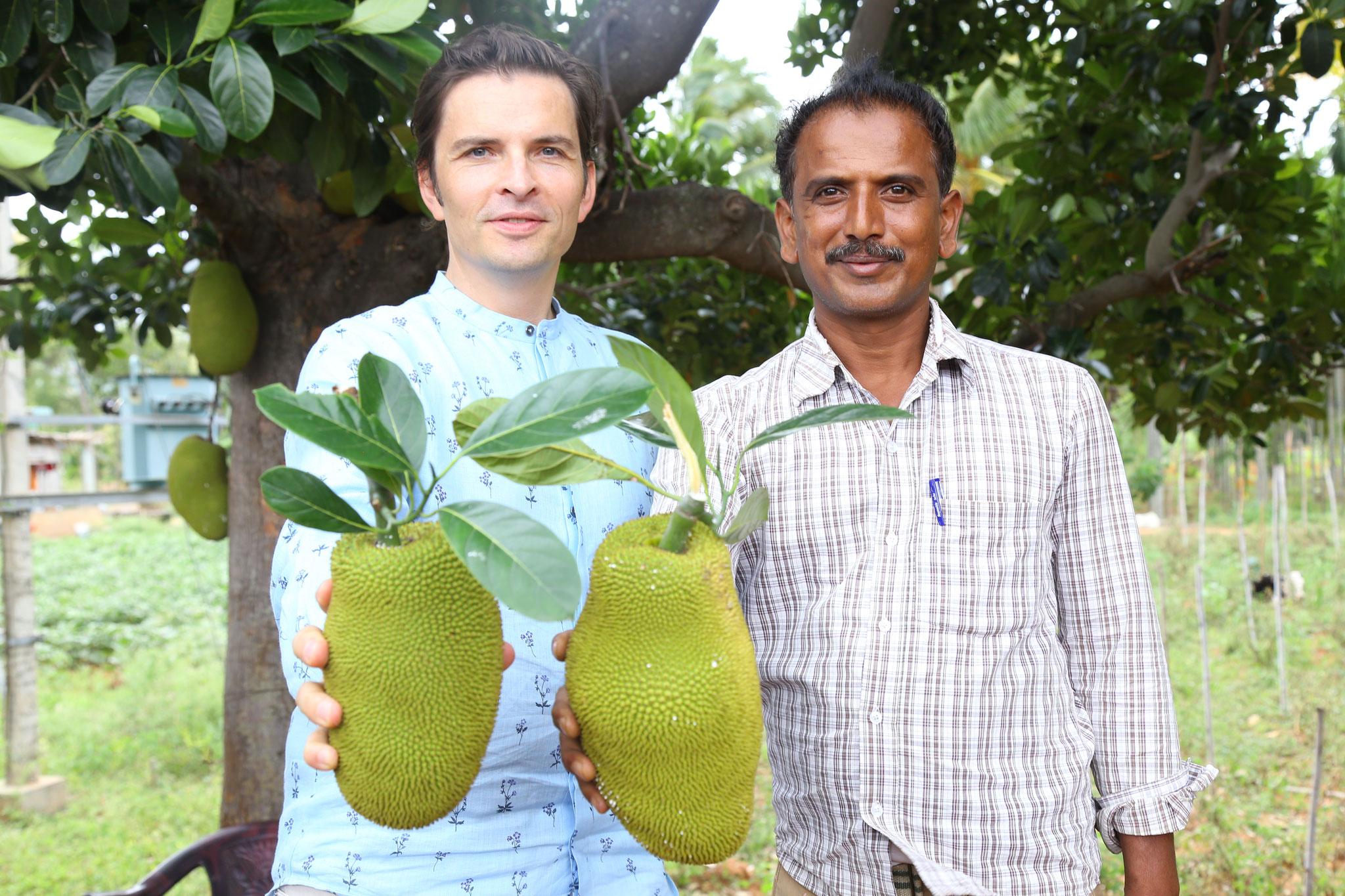 Stefan Fak mit Jackfruit-Farmer