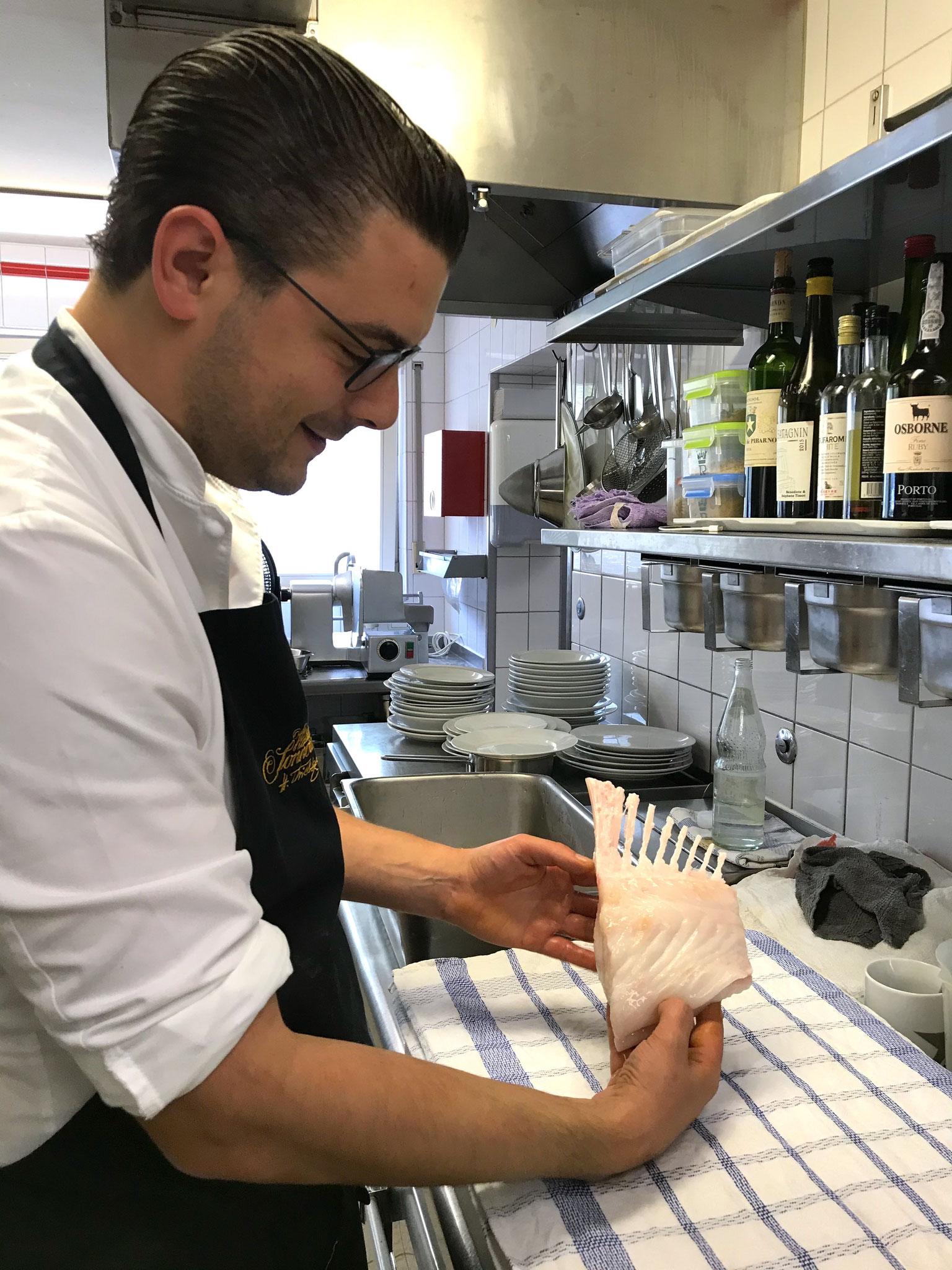 Clemens Rambichler, Küchenchef im Waldhotel Sonnora in Dreis