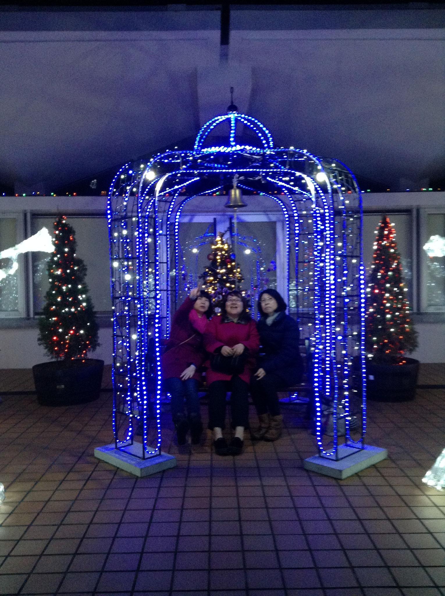 市民文化センタークリスマスライトアップ
