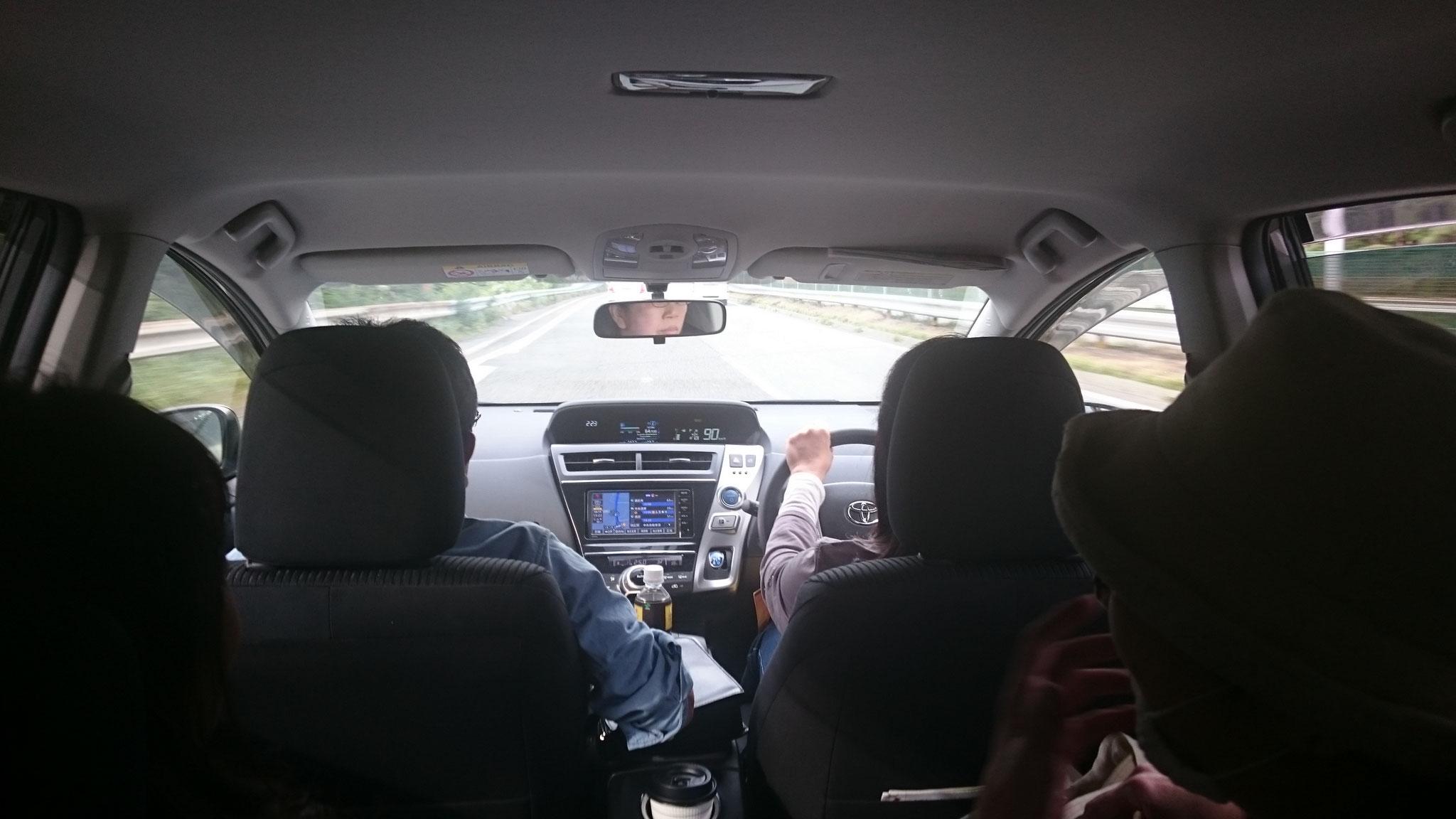八ヶ岳に向けて安全運転 シートベルトした?