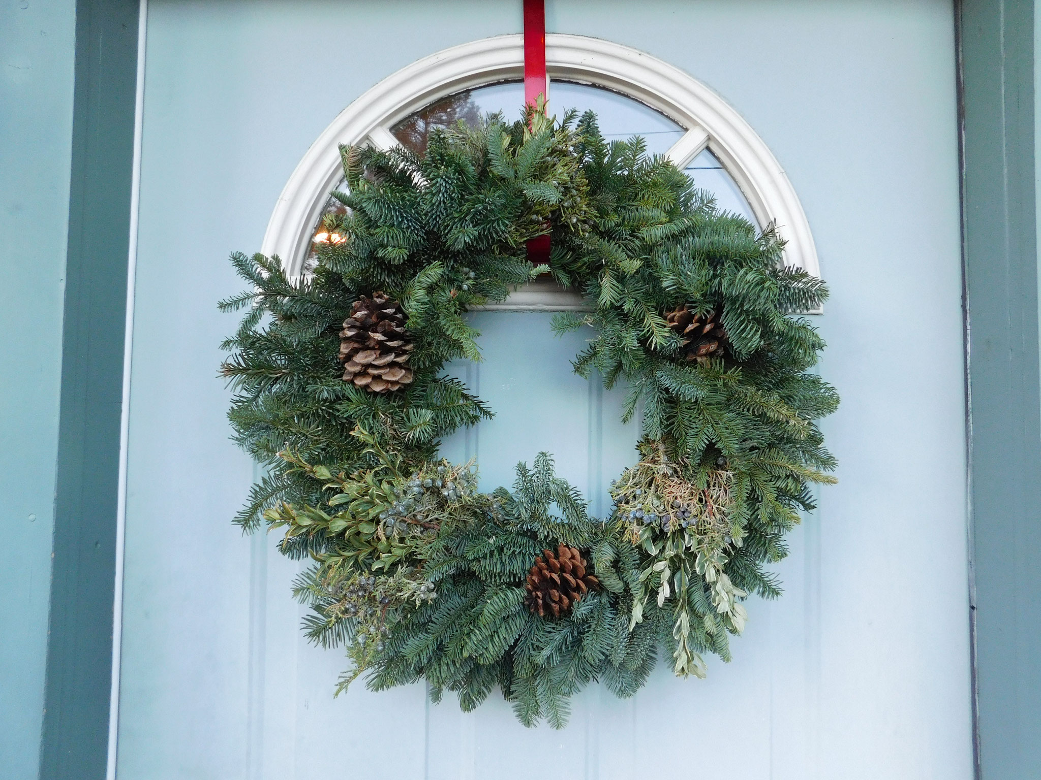 Christmas wreath from Village Nursery.