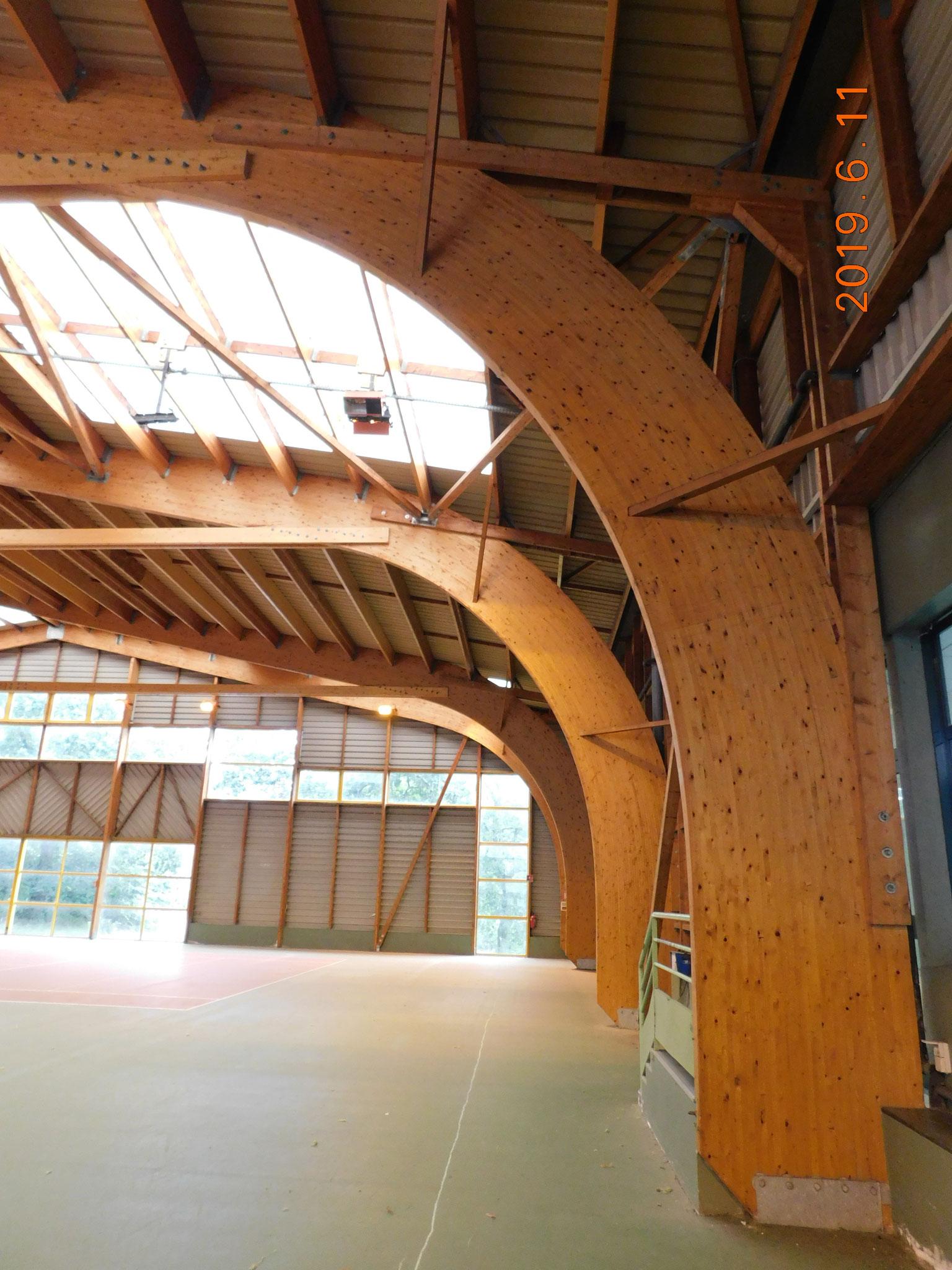 E.R.P. : salle de sport - diagnostic état structure bois + étanchéité (toiture + menuiseries + bardage acier)