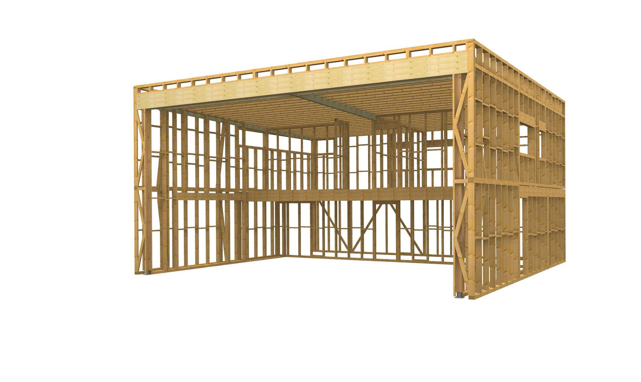 dessin structure 3D la Cube : MOB