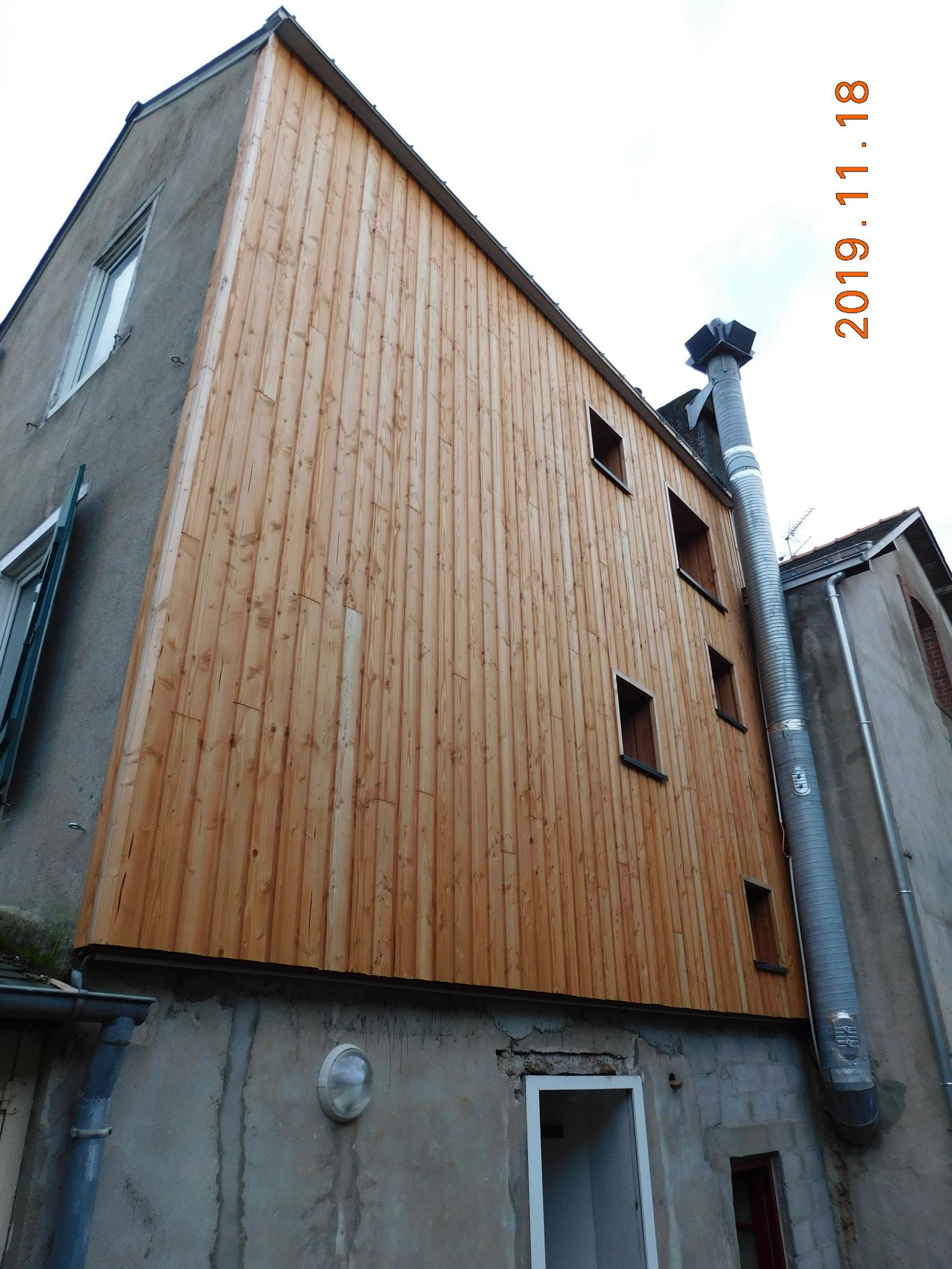 Immeuble d'appartements de ville (Vannes) : étude structure bois (suite expertise état parasitaire)
