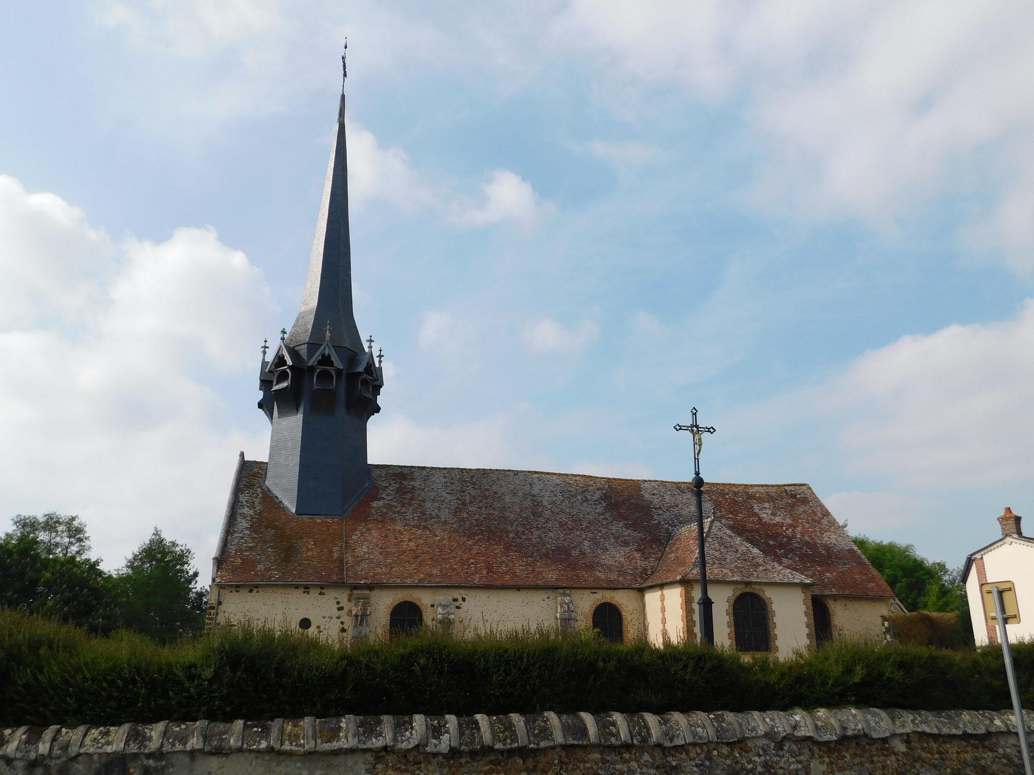 Eglise : expertise charpente bois de la flèche (structure - état parasitaire)
