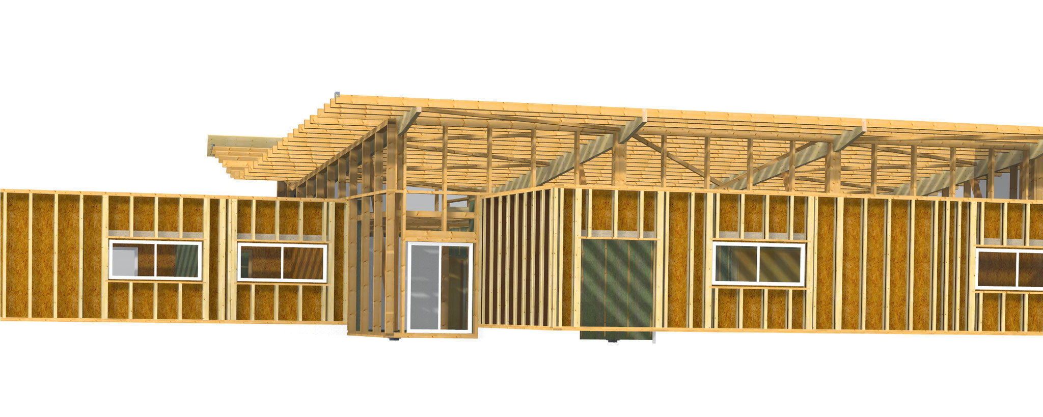 Dessin vue 3D - façade 2