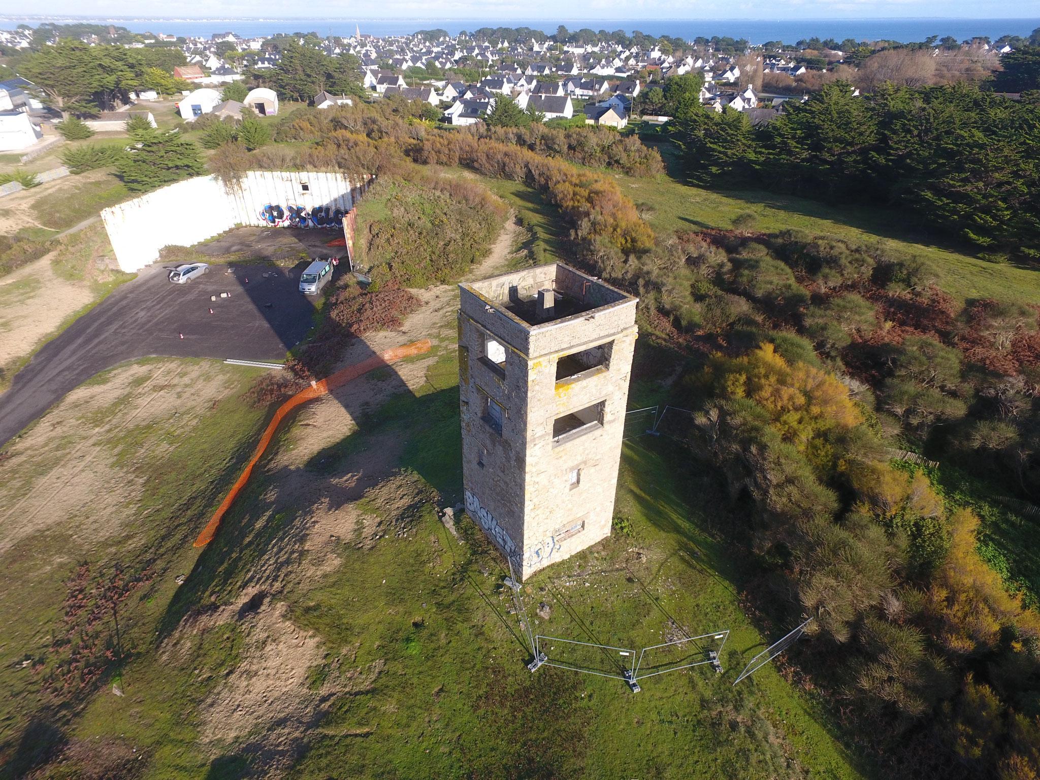 Edifice militaire : Tour de Kergroix (Saint Pierre Quiberon) : diagnostic structure - étude faisabilité
