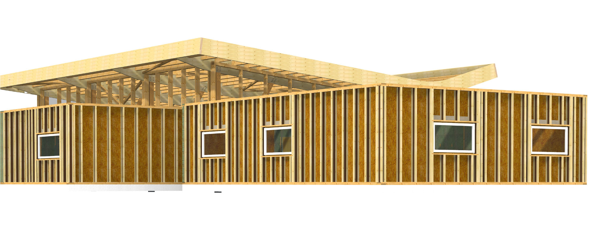 Dessin vue 3D - façade 1