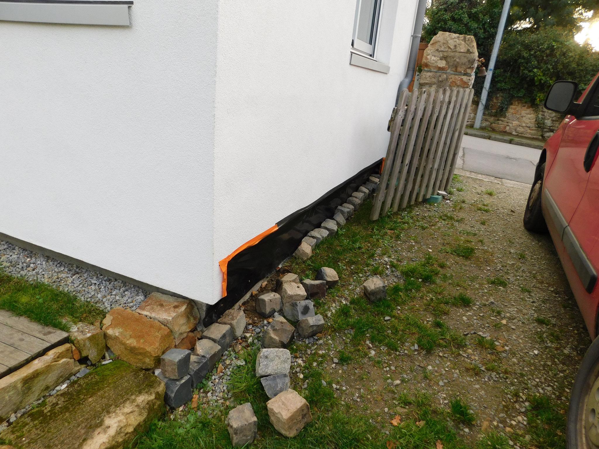 Maison OB + ITE (Isolation Thermique par l'Extérieur) : expertise humidité (remontées capillaires)