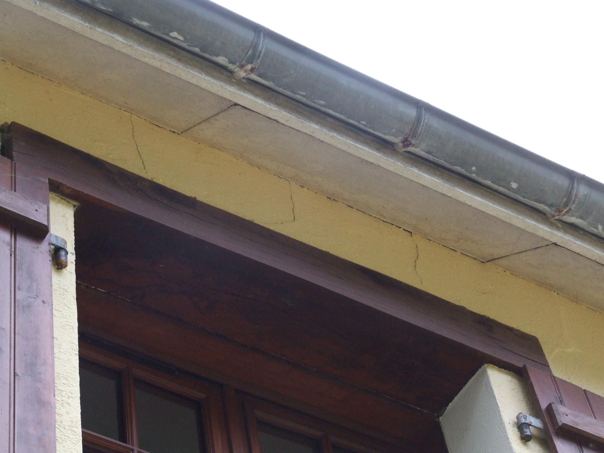 fissuration d'un linteau de fenêtre
