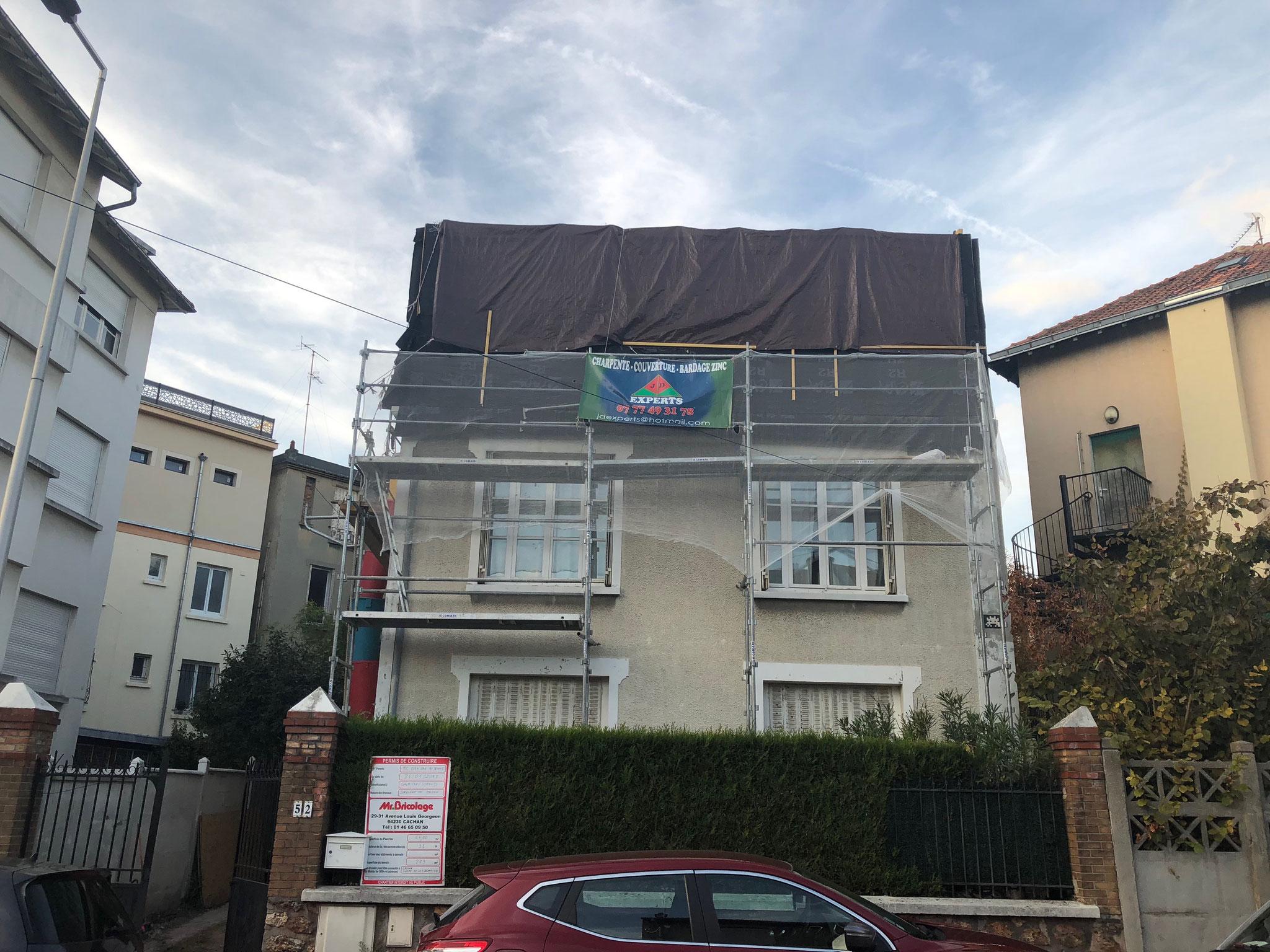 Extension bois en hauteur (région Paris) : expertise en cours de chantier, à distance - malfaçons
