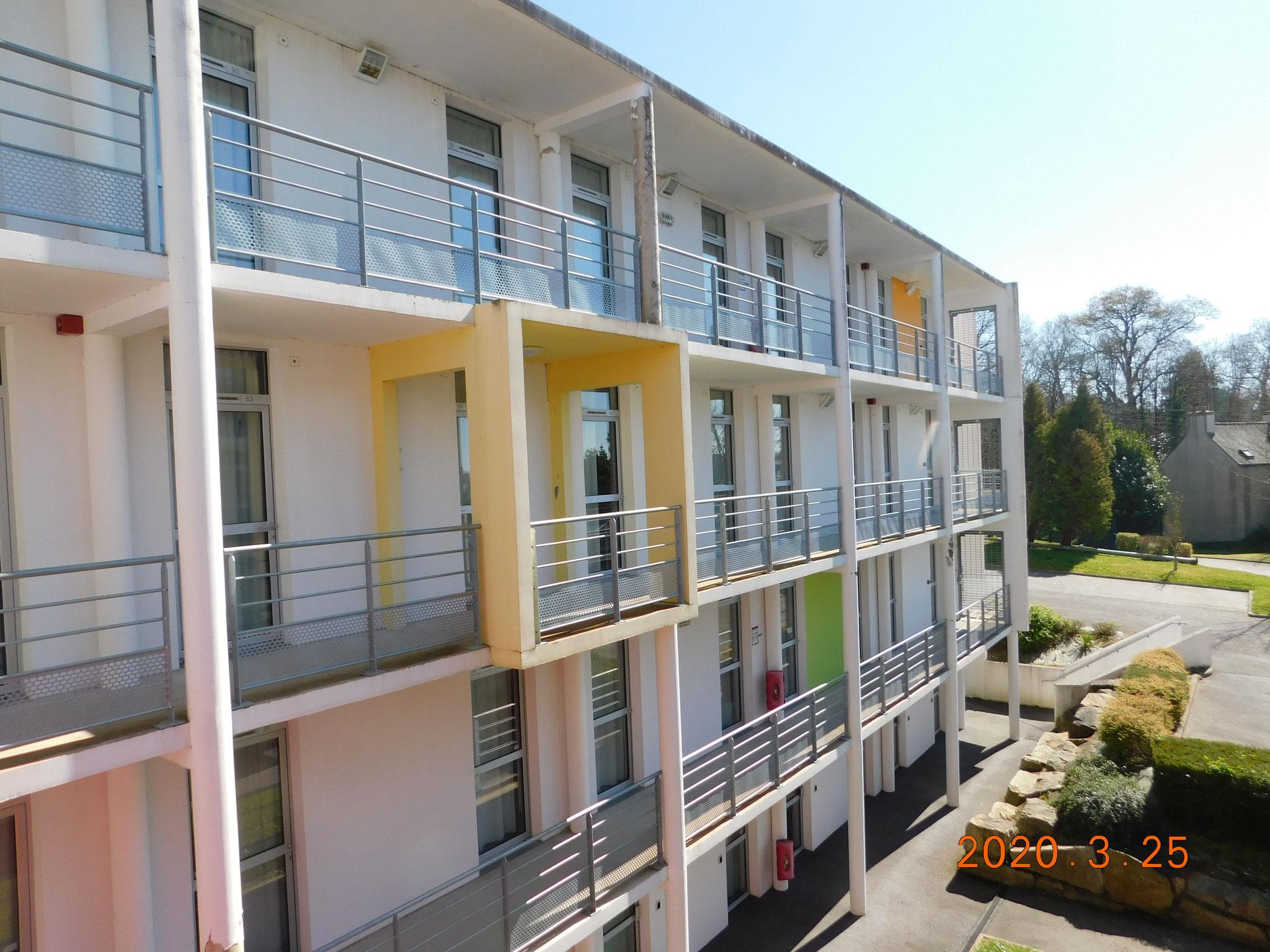 Bâtiment de logements étudiants (Pontivy) : expertise infiltrations / structure béton armé / ITE (Isolation Thermique par l'Extérieur)