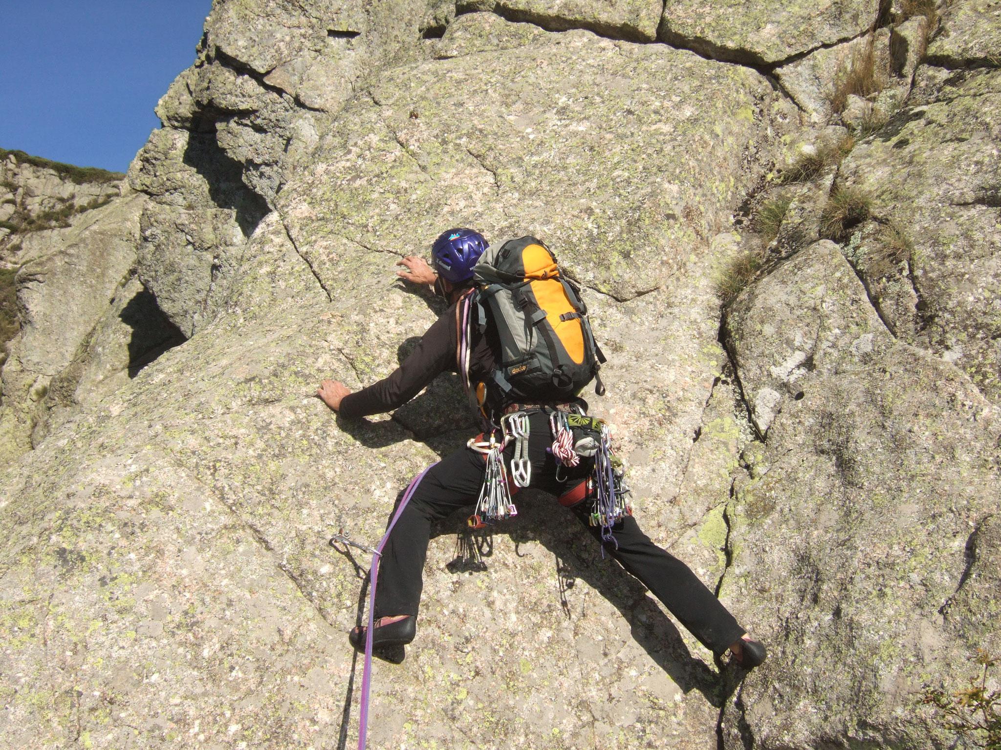 Escalades en Lozère (granit, schiste, calcaire, ...)