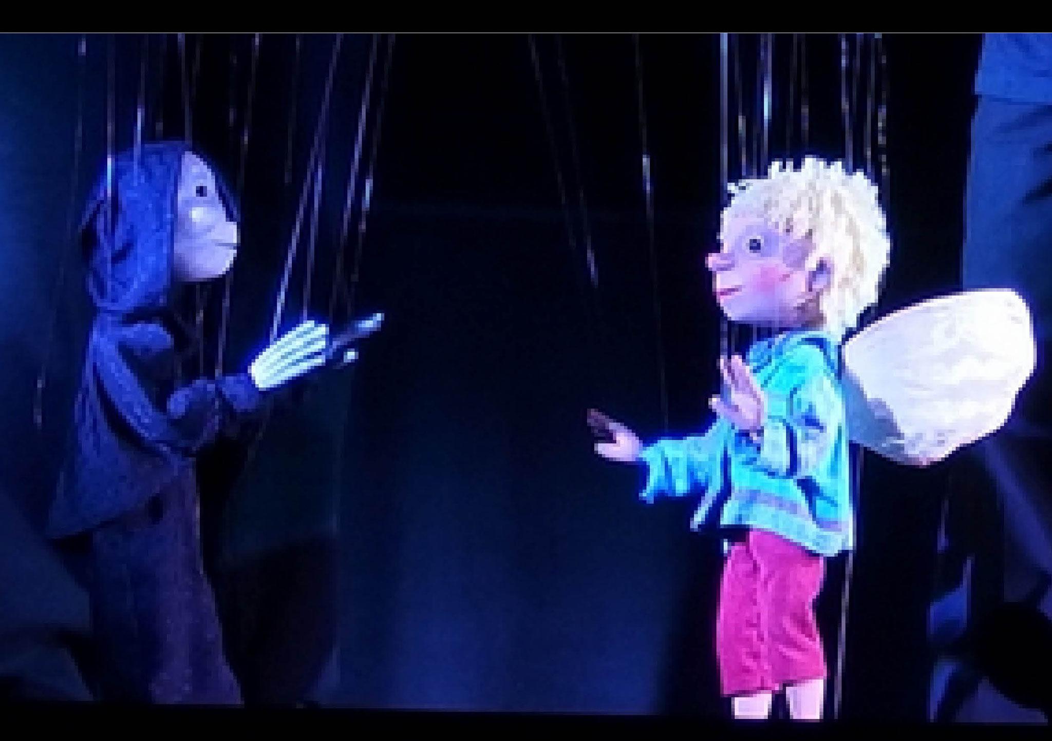 """Mitgliederbühnen: """"Zwei Freunde"""", Marionettentheater Basilius und Freunde, Alexander und Tatiana von Stülpnagel, Krefeld"""