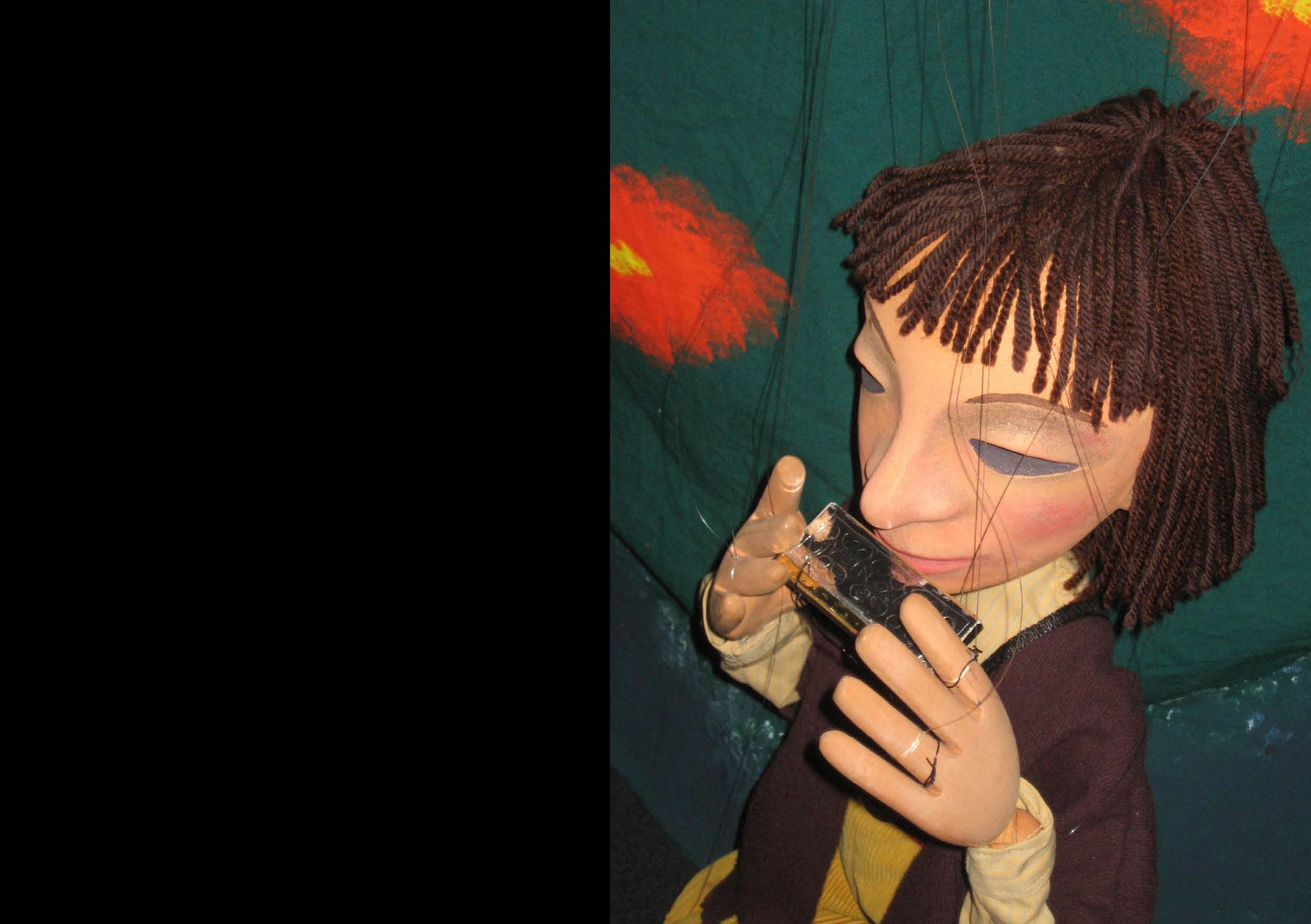 Harmonicas Klänge oder die gestohlene Blume: Marionettenspiel Cagibi, Catherine Cunz, Zürich