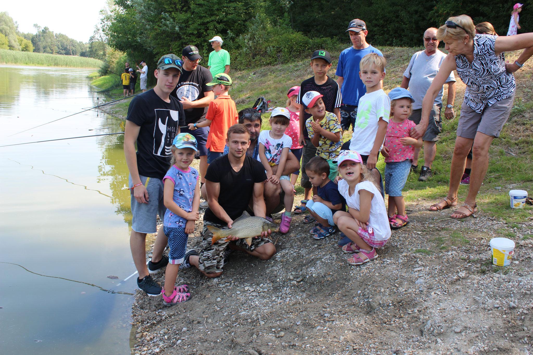 Kinderfischen 2017 - 22.07.2017 - die Kids konnten zahlreiche Fänge verzeichnen