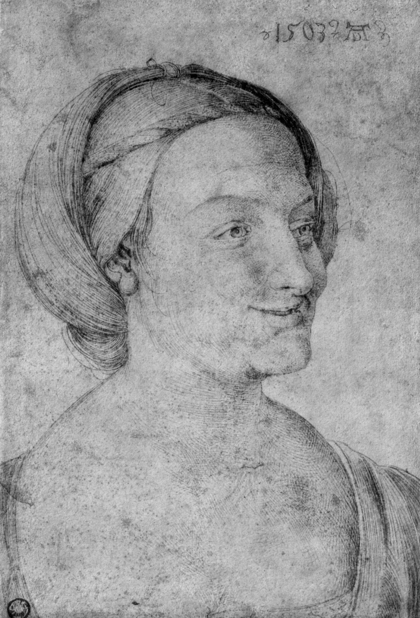 Kopf einer lachenden Frau