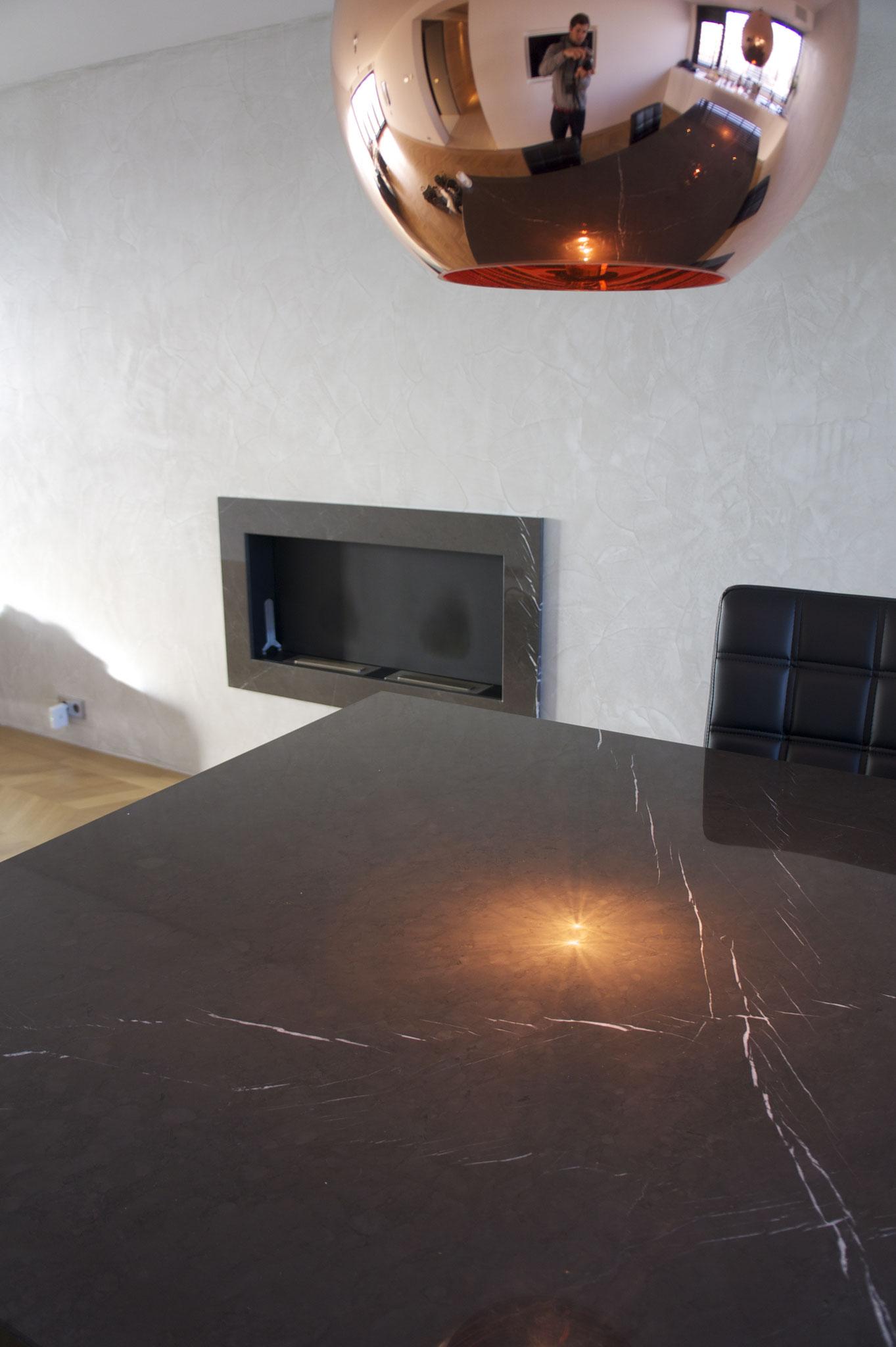 Tafel met ingebouwde wine cooler van Pietra Grey