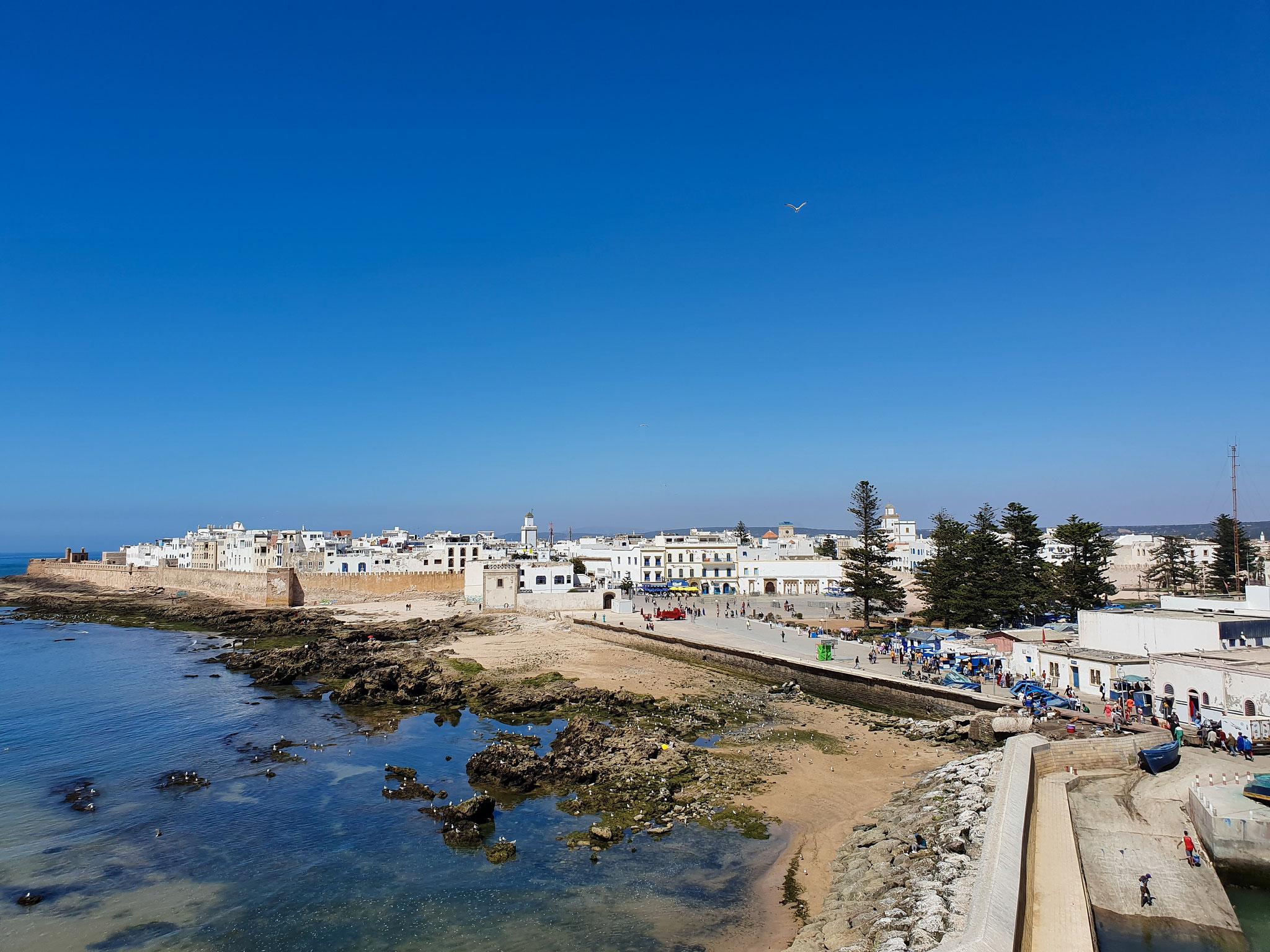 Essaouira uitzicht vanaf skala du port