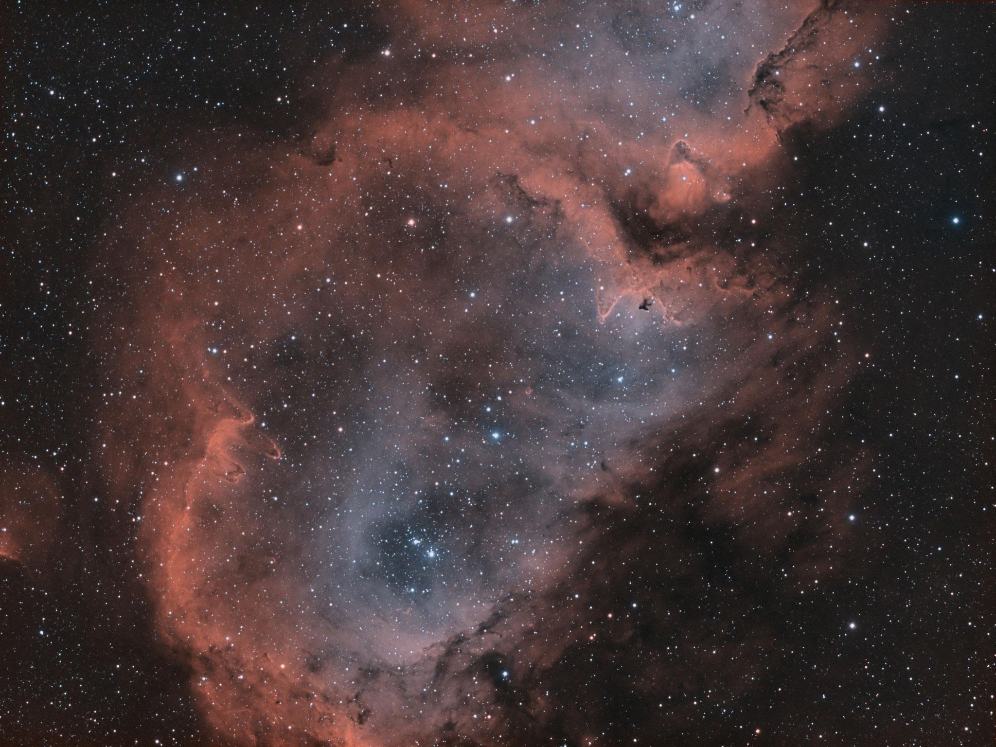 IC 1848; Seelennebel; APM LZOS 130/780, Riccardi-Reducer f=585mm; Ha 101x180s, OIII 103x180s; Astronomik Ha / OIII Filter 12nm