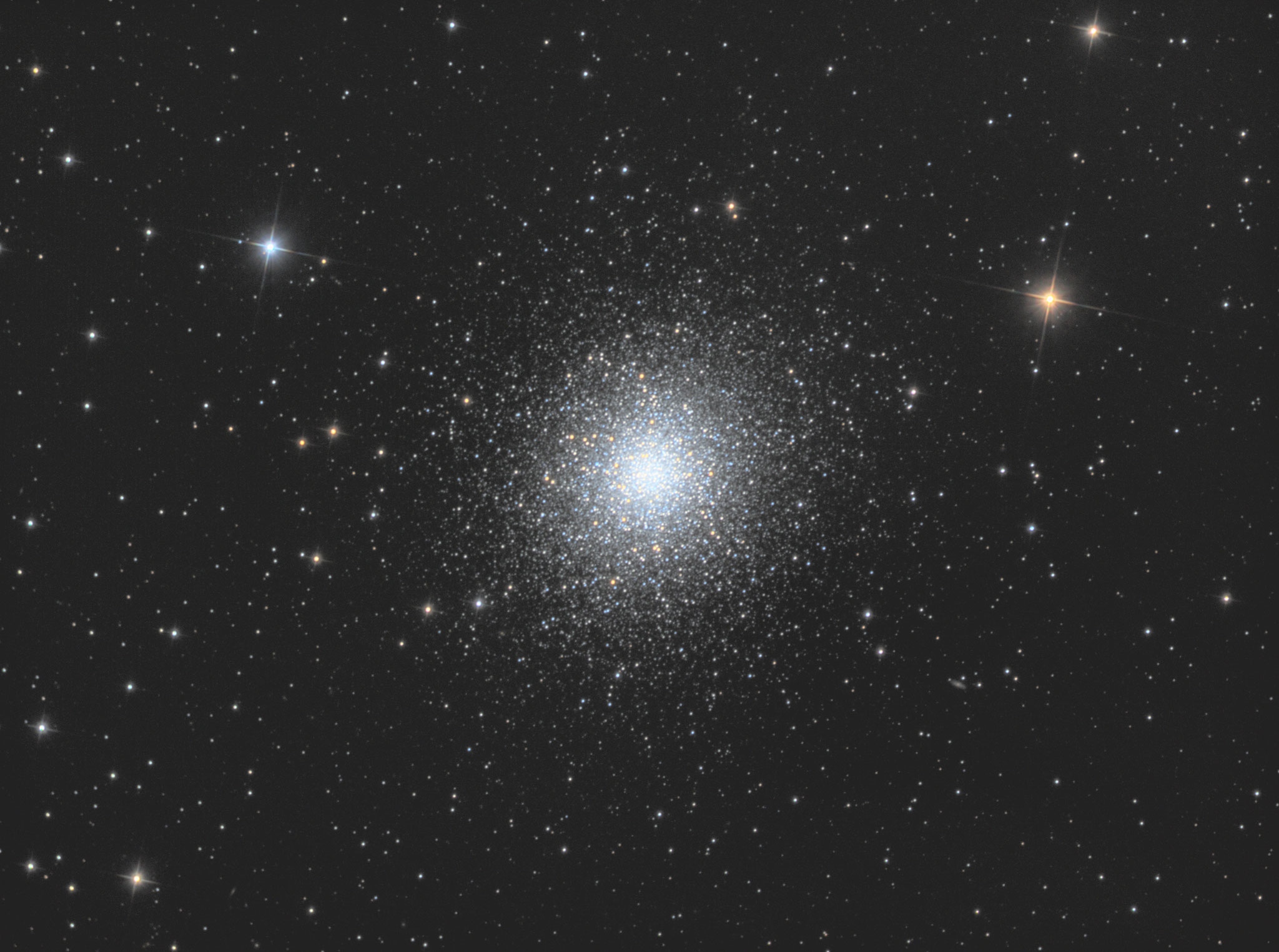 "M13, TS RC8"", Astro Physics Reducer, ASI1600MMPro, L 80x180s, RGB je 10x180s, IDAS-LPS P2, Baader RGB Filter"