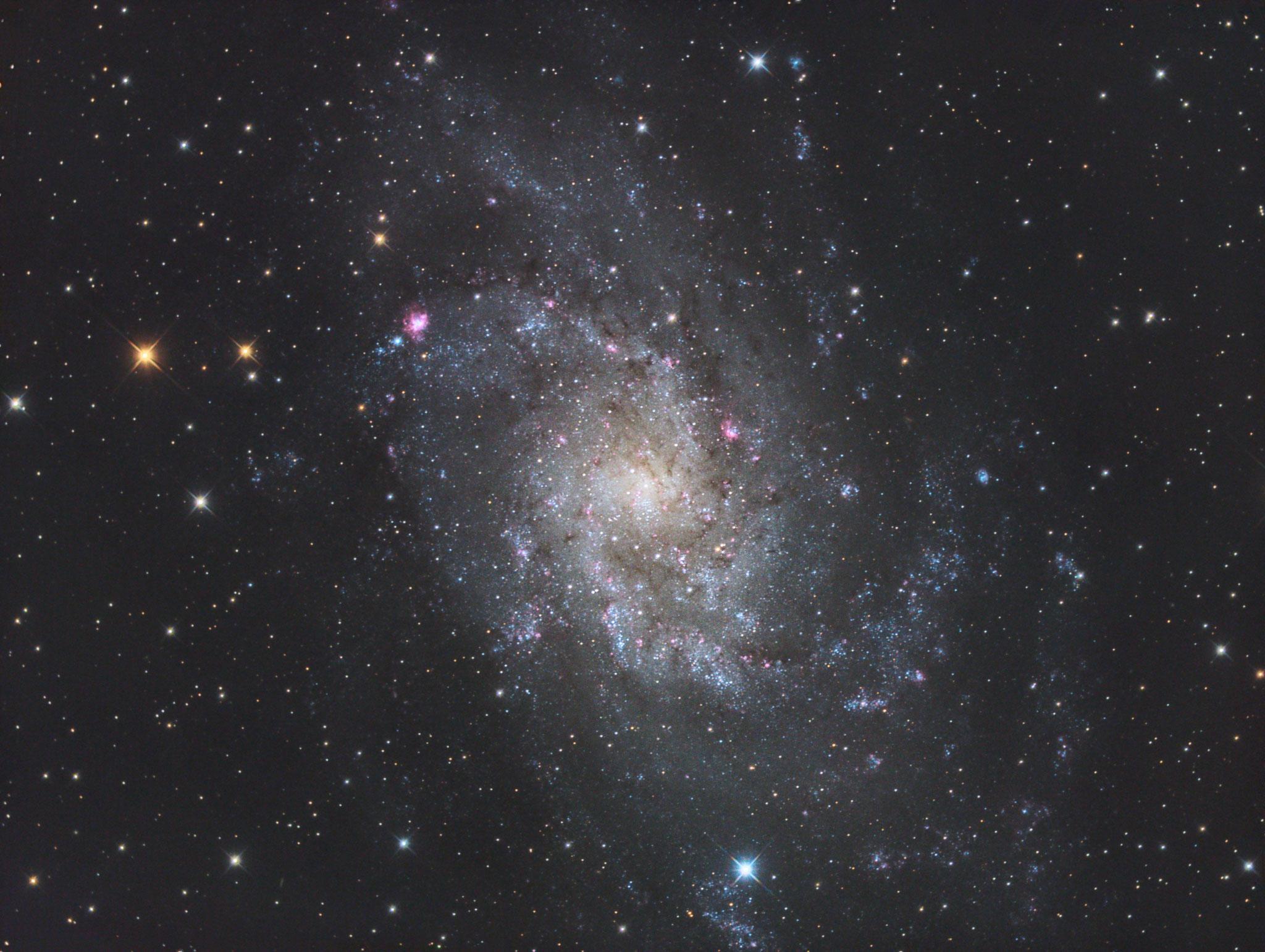 "M 33, TS RC8"", Astro Physics Reducer, ASI1600MMPro, L 200x180s, RGB je 20x180s, IDAS-LPS P2, Baader RGB Filter"